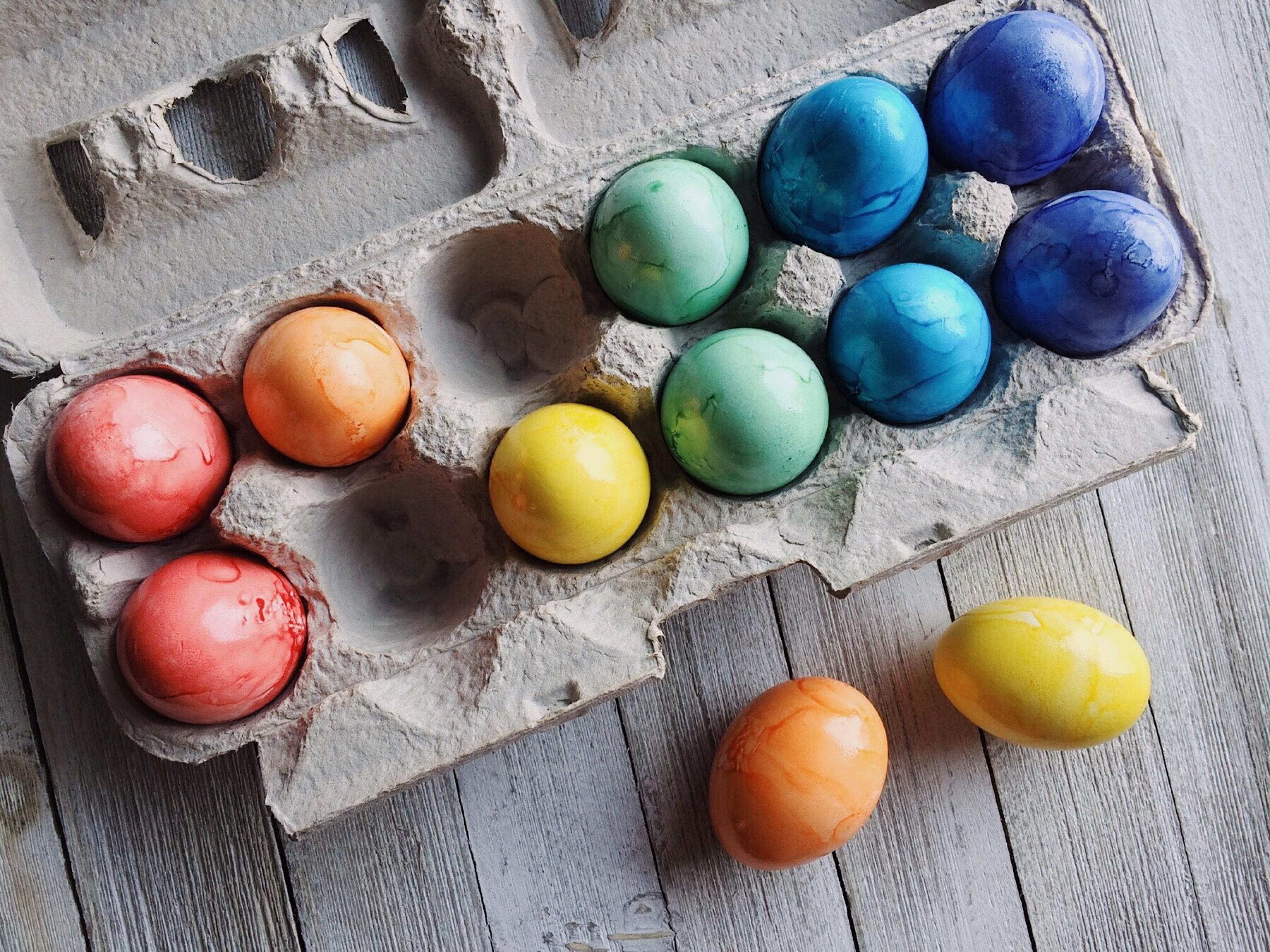 134960 descargar fondo de pantalla Vacaciones, Pintado, Multicolor, Abigarrado, Pascua, Huevos: protectores de pantalla e imágenes gratis