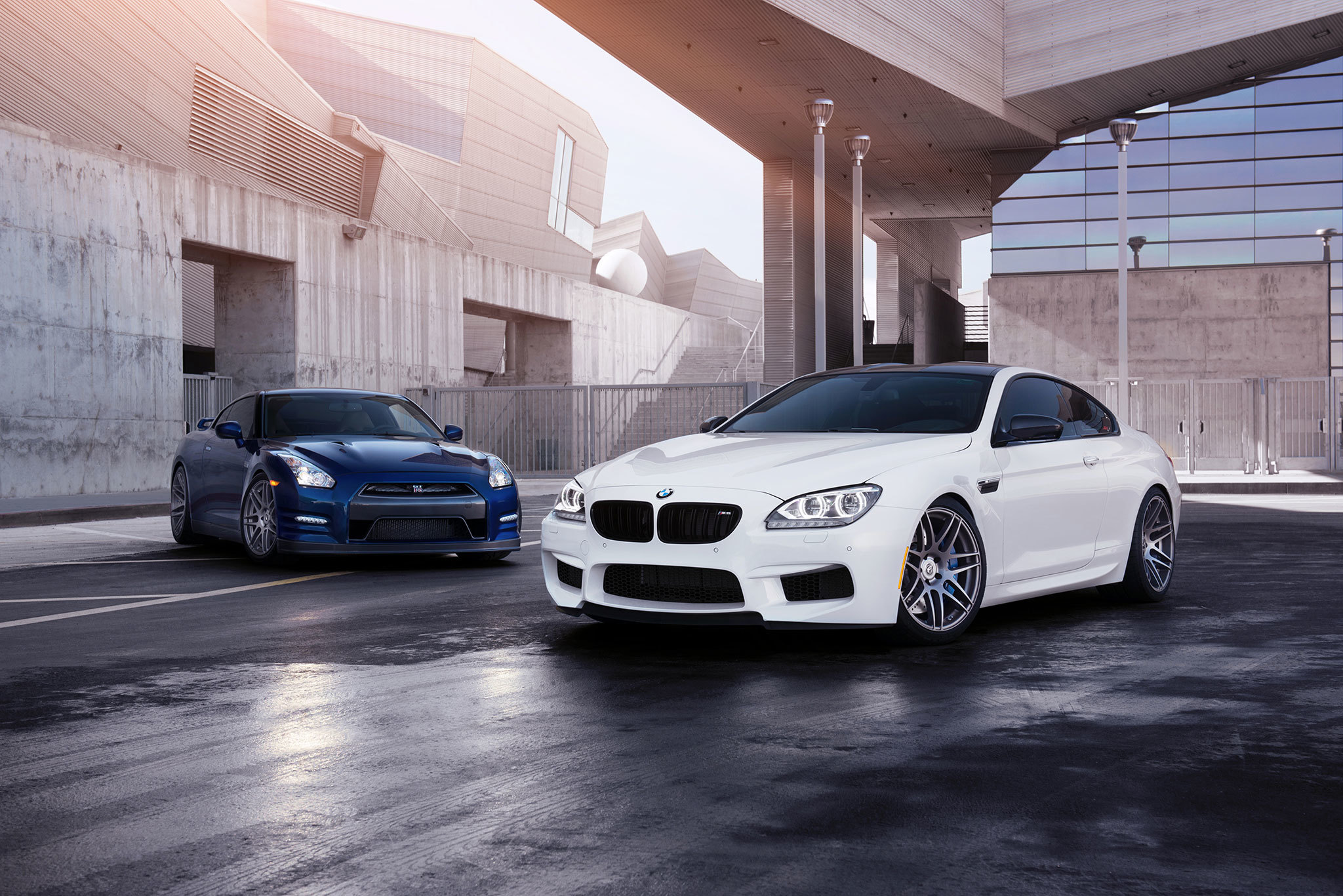 75708 download wallpaper Cars, Bmw M6, Bmw, Nissan Gt-R, Nissan, Auto screensavers and pictures for free