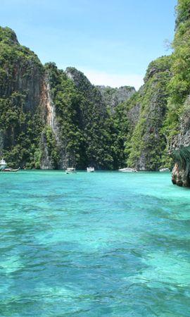 151006 скачать обои Природа, Тропики, Море, Скалы - заставки и картинки бесплатно