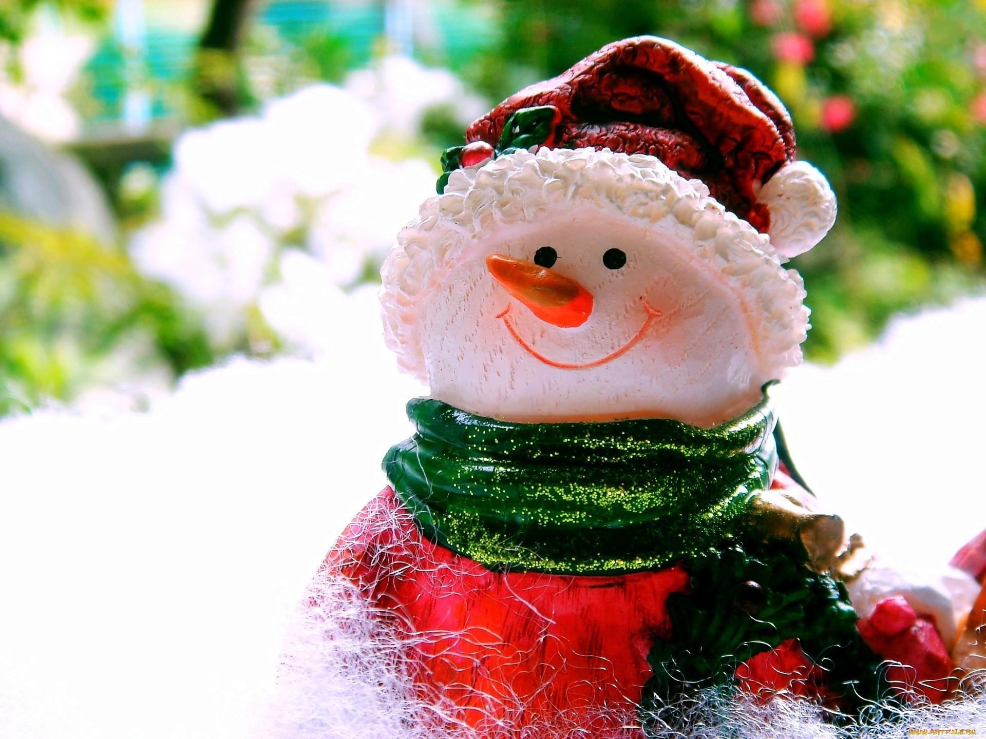 21304 скачать обои Зима, Фон, Игрушки, Снеговики - заставки и картинки бесплатно