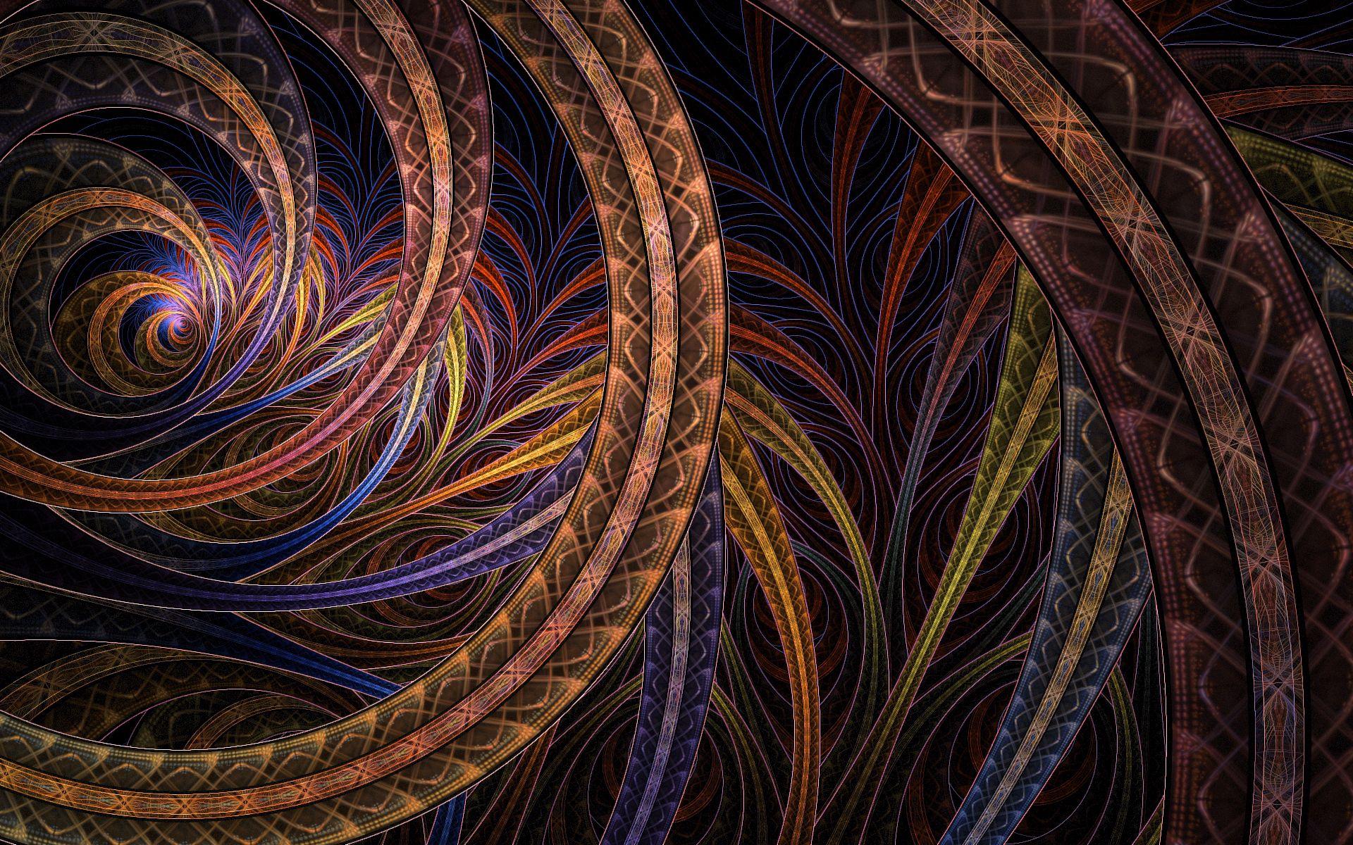 53479 Hintergrundbild herunterladen Kreise, Abstrakt, Patterns, Dunkel, Scheinen, Licht - Bildschirmschoner und Bilder kostenlos