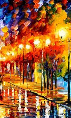 20866 скачать обои Пейзаж, Дождь, Ночь, Рисунки - заставки и картинки бесплатно