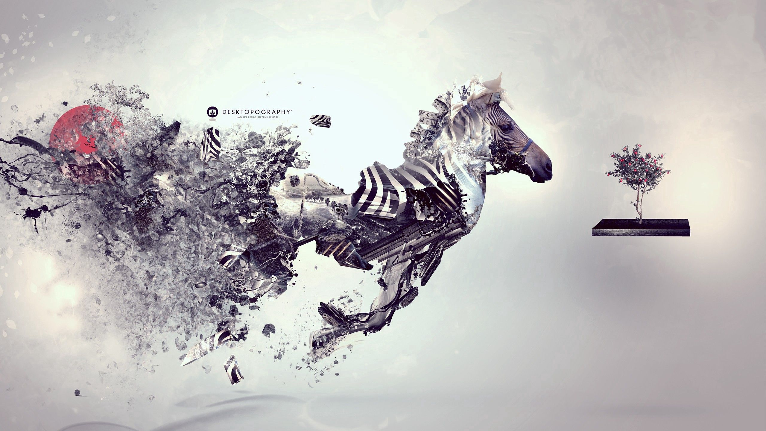 131042 download wallpaper Abstract, Zebra, Surrealism, Inspiration screensavers and pictures for free