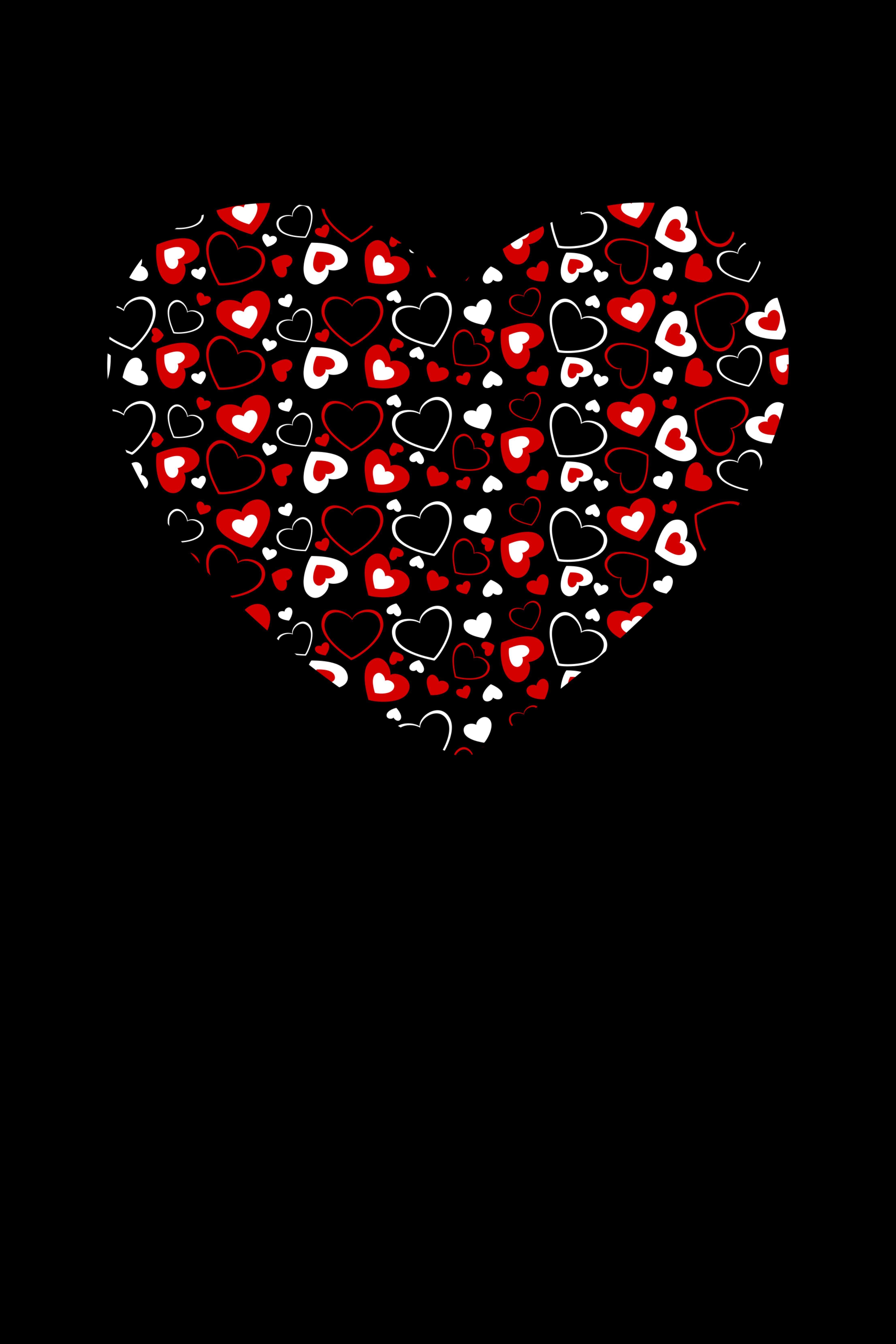 64851 Заставки и Обои Сердца на телефон. Скачать Сердца, Арт, Любовь, Темный, Сердце картинки бесплатно