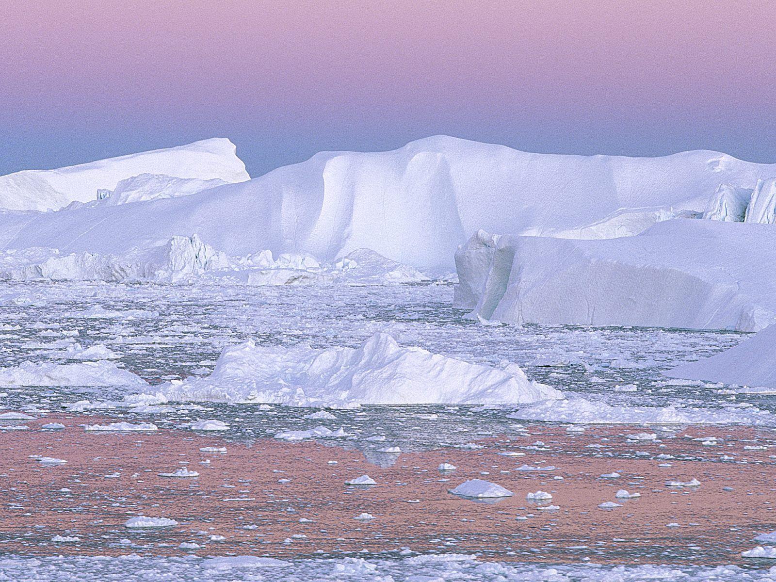 57590 скачать обои Природа, Айсберг, Розовый, Белый, Холод, Гренландия - заставки и картинки бесплатно