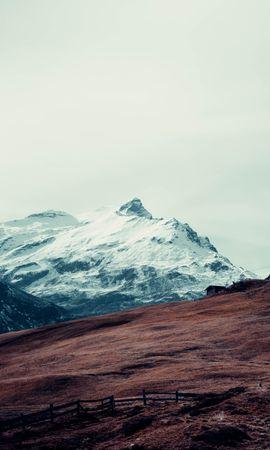 107860 télécharger le fond d'écran Nature, Montagne, Sommet, Retour Au Début, Neige, Izba, Clôture - économiseurs d'écran et images gratuitement
