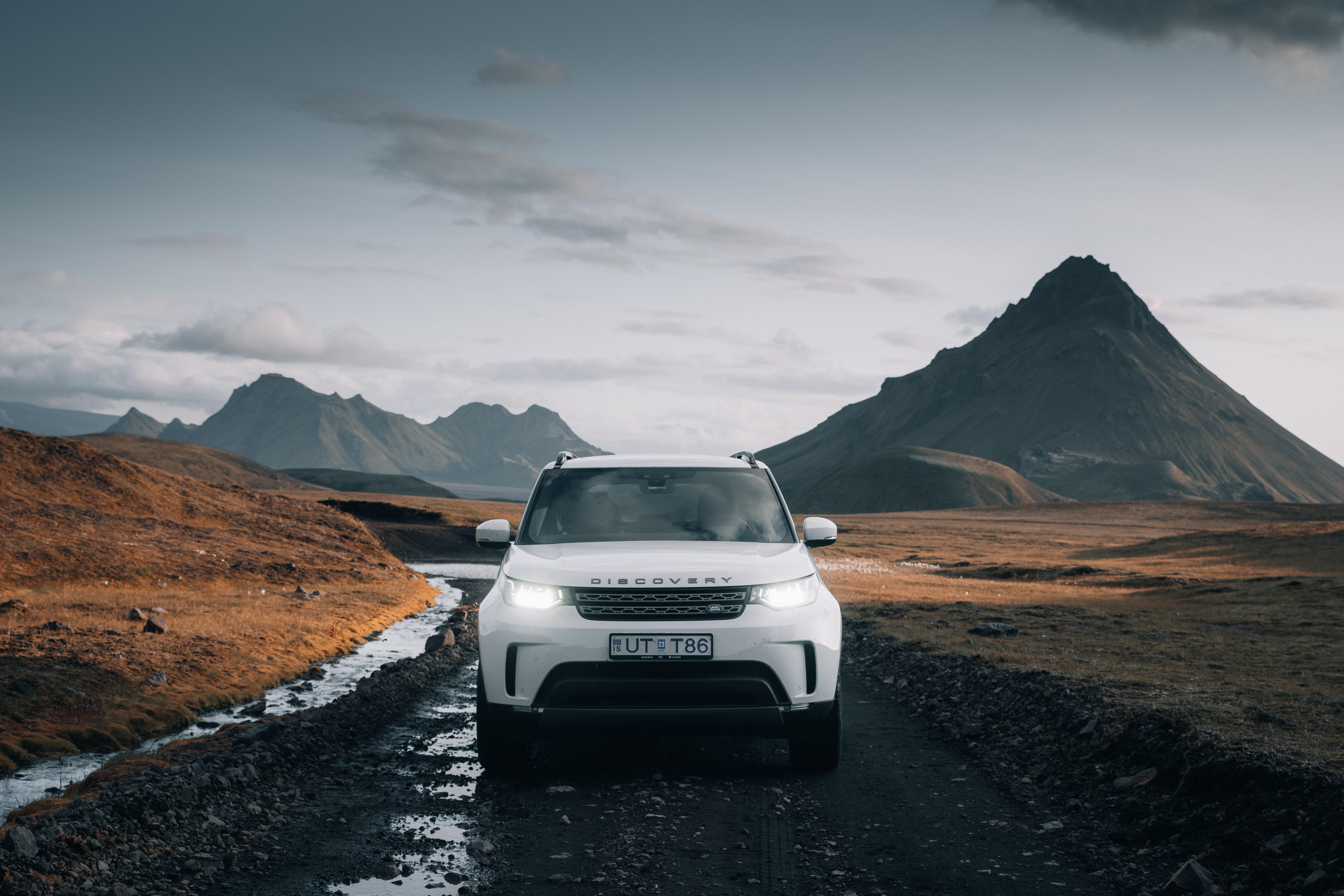 51958 Заставки и Обои Вид Спереди на телефон. Скачать Вид Спереди, Ленд Ровер (Land Rover), Тачки (Cars), Автомобиль, Внедорожник, Белый, Land Rover Discovery картинки бесплатно