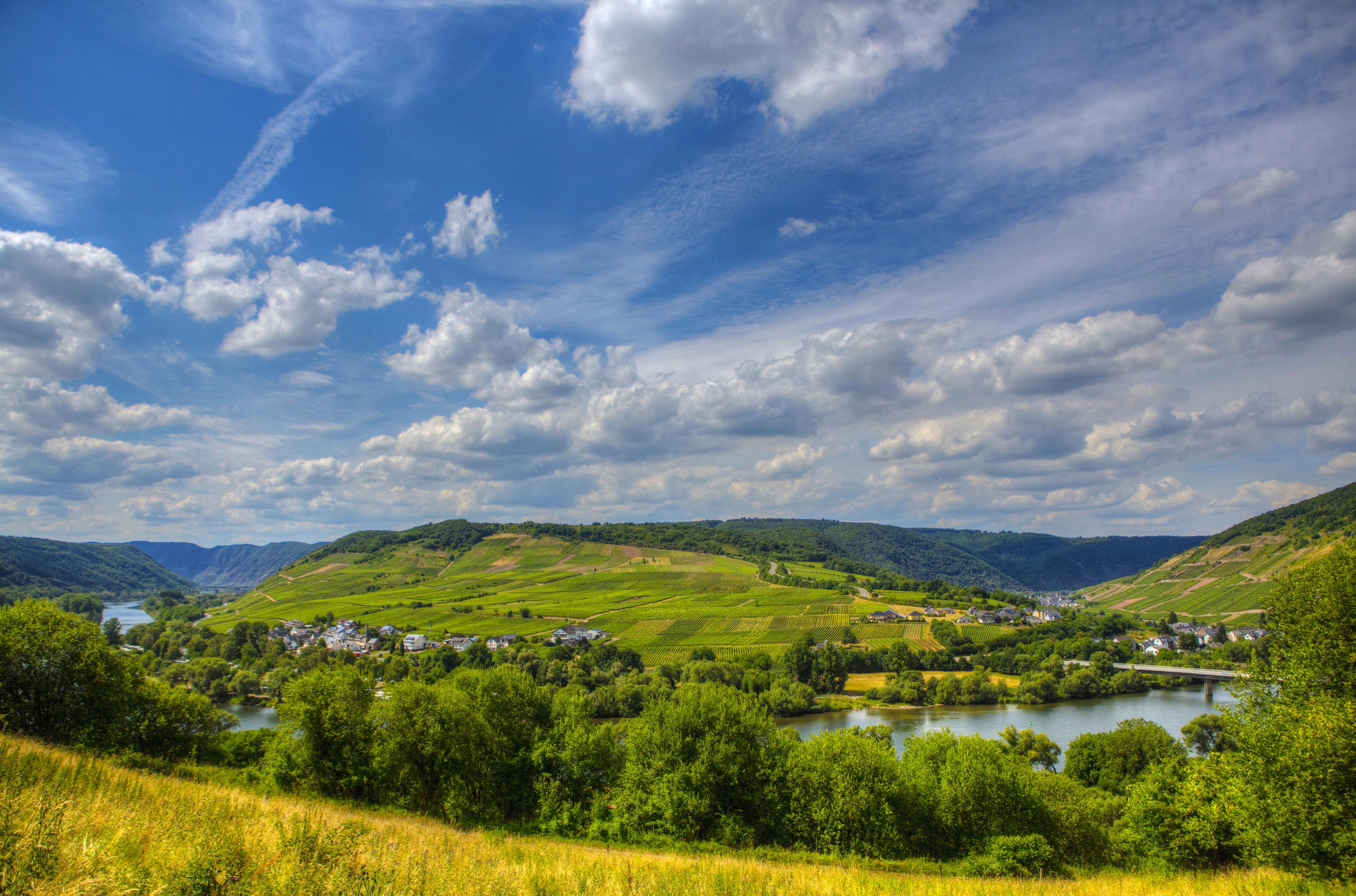 91083 Заставки и Обои Река на телефон. Скачать Река, Природа, Небо, Германия, Зинсхайм картинки бесплатно