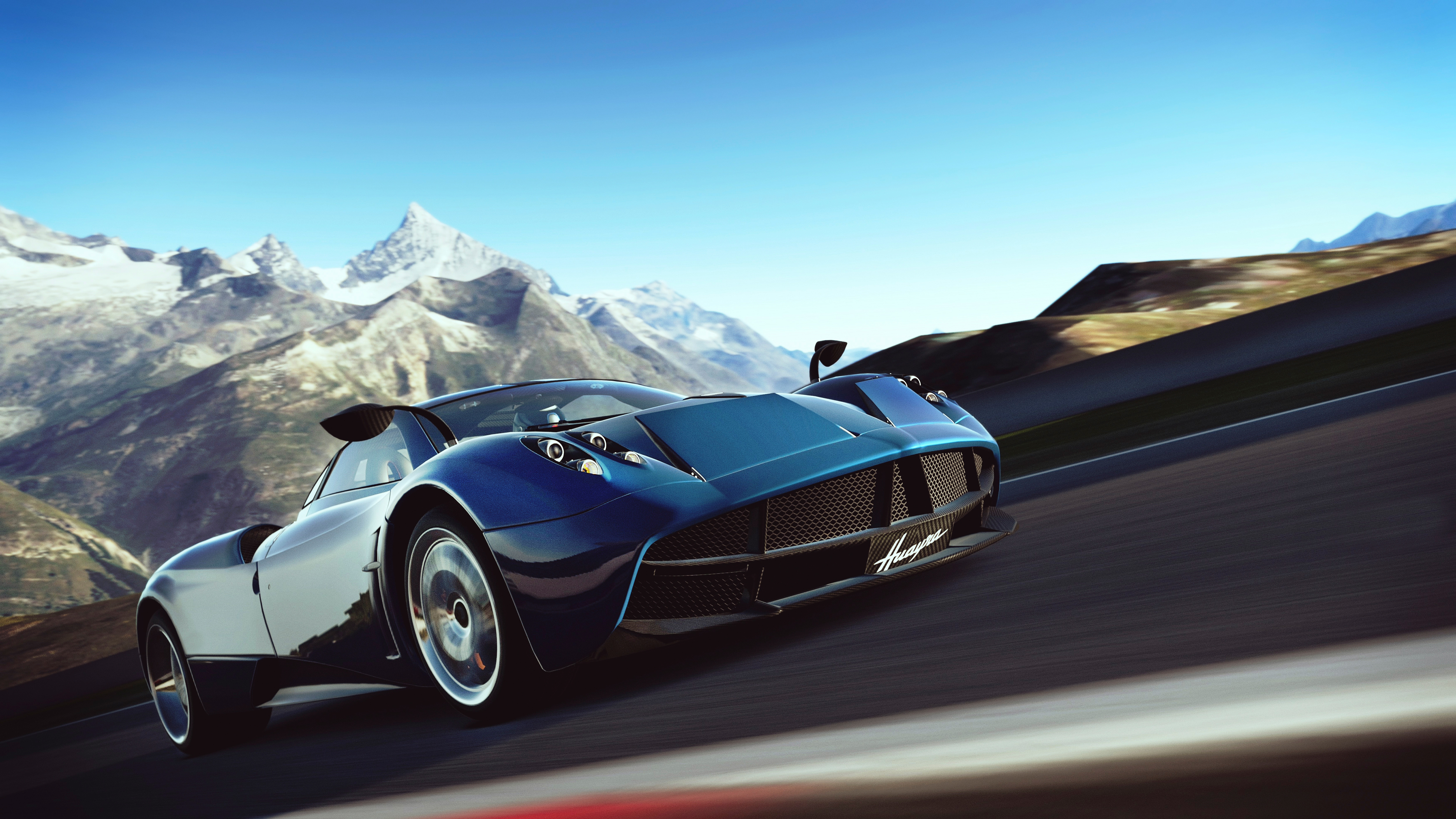 65389 download wallpaper Art, Cars, Speed, Gran Turismo-6, Car Simulator, Auto Simulator, Pagani Huayra screensavers and pictures for free