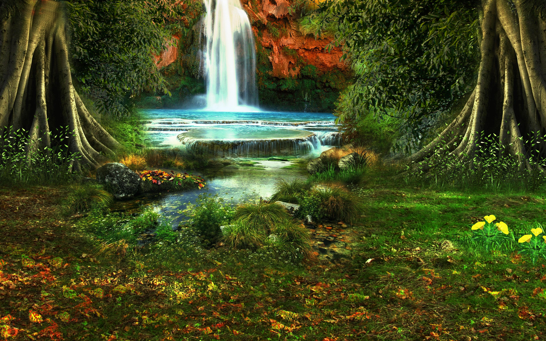 138494 скачать обои Водопад, Деревья, Растительность, Природа, Пейзаж - заставки и картинки бесплатно
