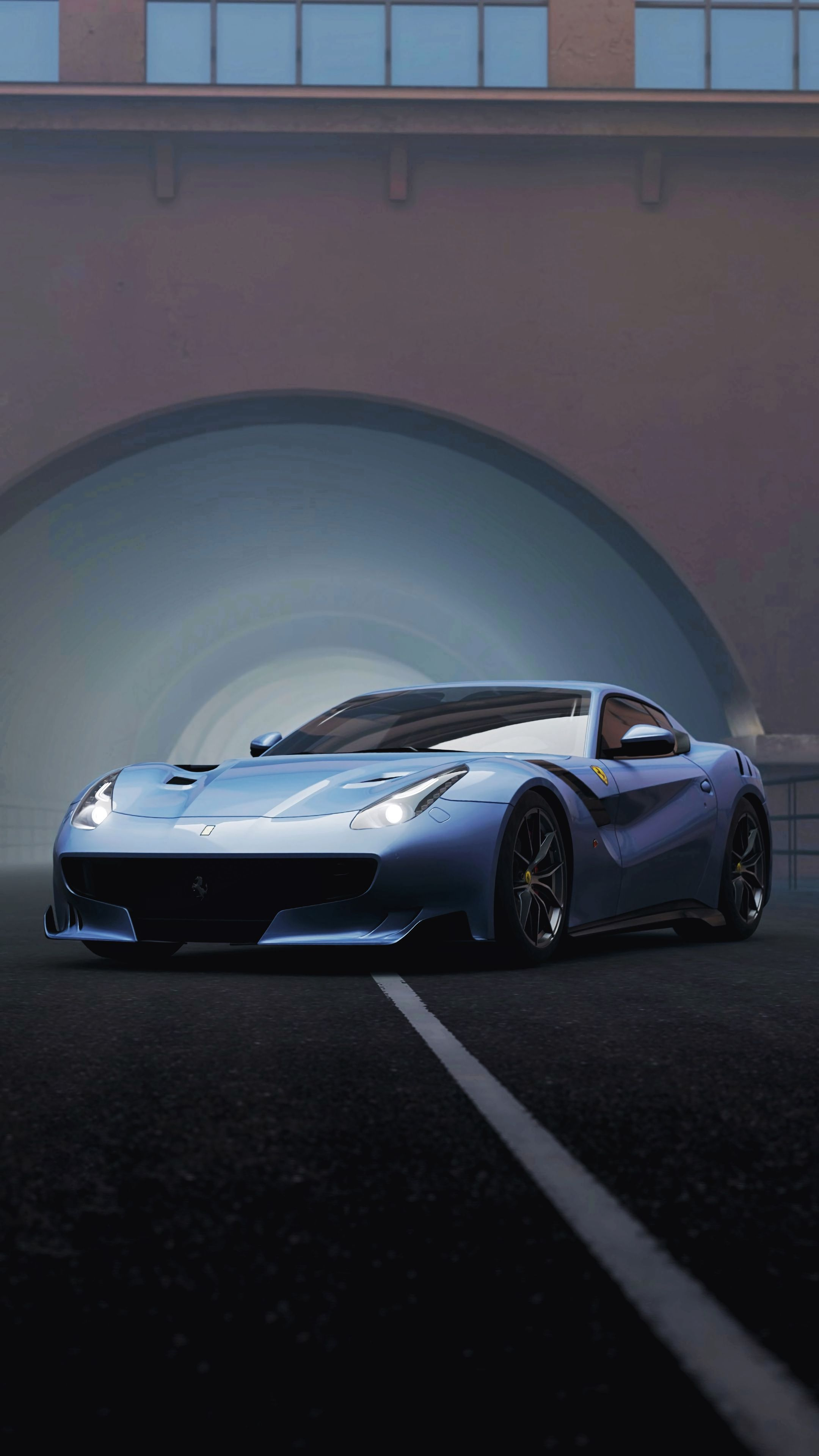 113926 download wallpaper Cars, Ferrari F12, Ferrari, Sports Car, Sports, Races, Front View, Supercar screensavers and pictures for free