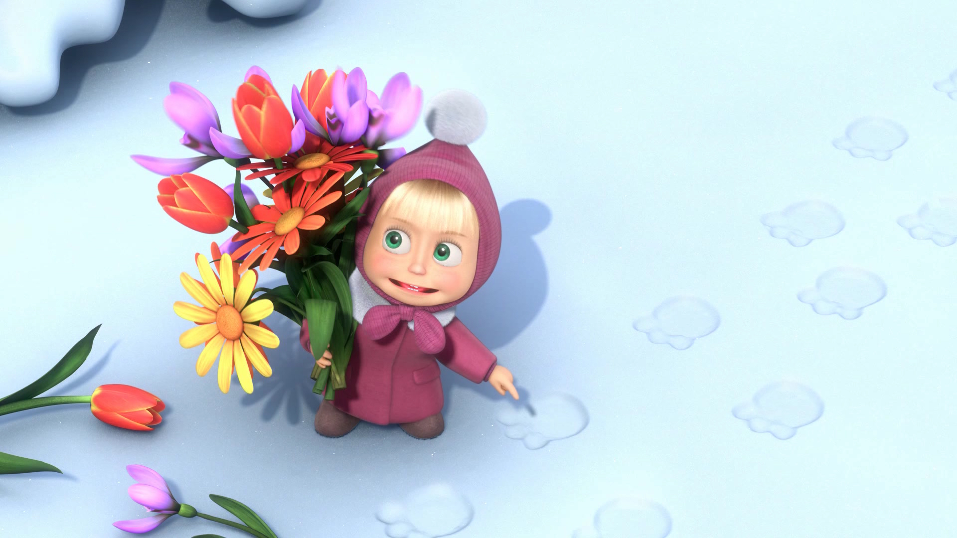 18583 Screensavers and Wallpapers Masha And The Bear for phone. Download Masha And The Bear, Cartoon pictures for free