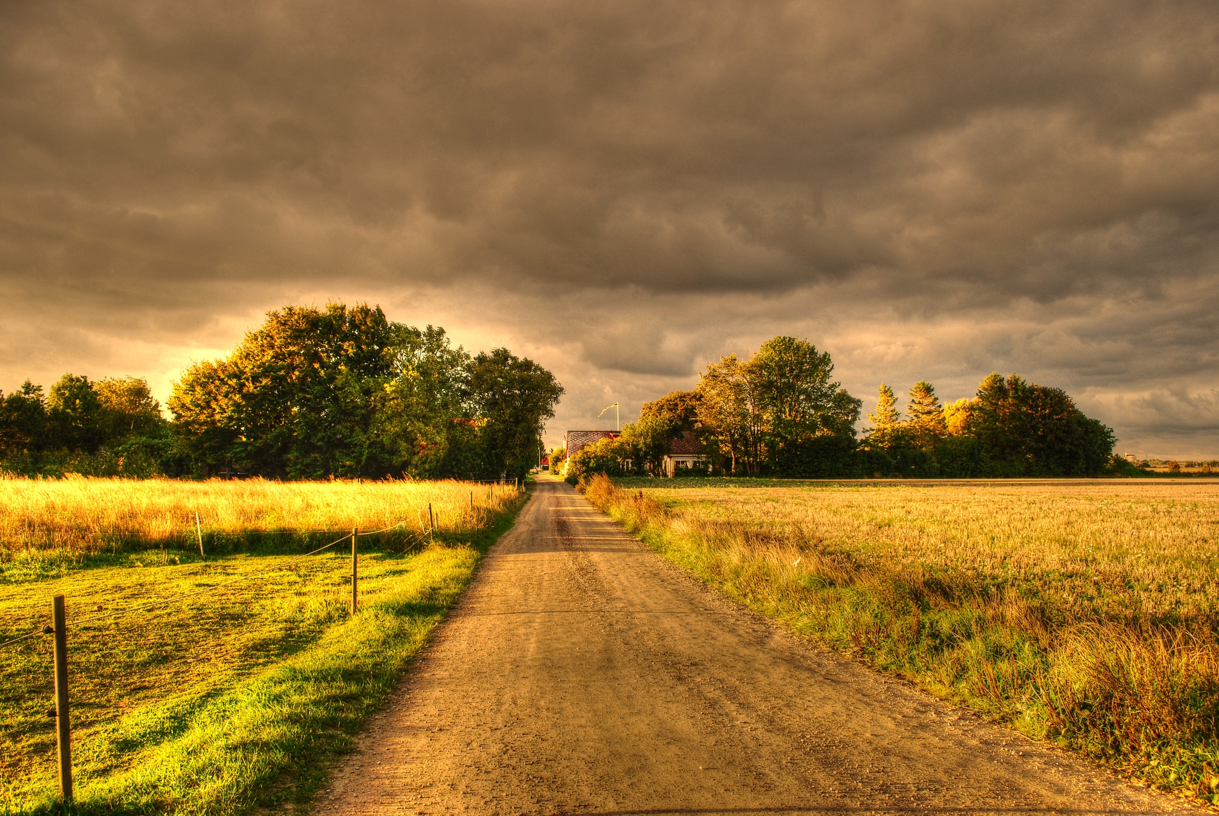 101054 download wallpaper Nature, Autumn, Fields, Road, Landscape screensavers and pictures for free