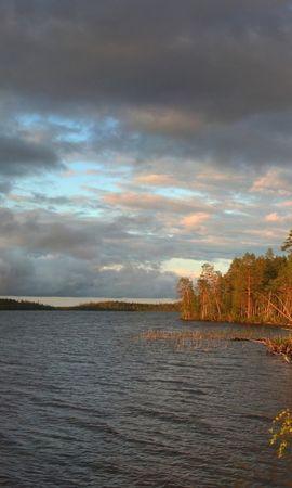 21959 скачать обои Пейзаж, Деревья, Облака, Озера - заставки и картинки бесплатно