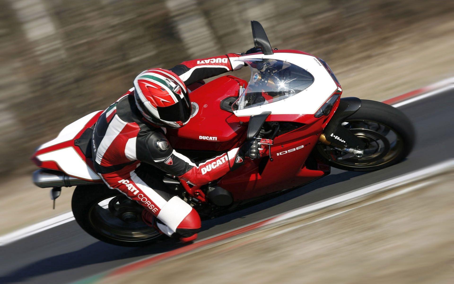 126001 скачать обои Мотоциклы, Дукати, Мотобайк, Красный, Ducati 1098, В Движении - заставки и картинки бесплатно
