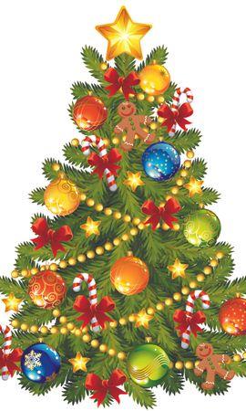 16137 скачать обои Праздники, Деревья, Новый Год (New Year), Елки, Рождество (Christmas, Xmas), Рисунки - заставки и картинки бесплатно