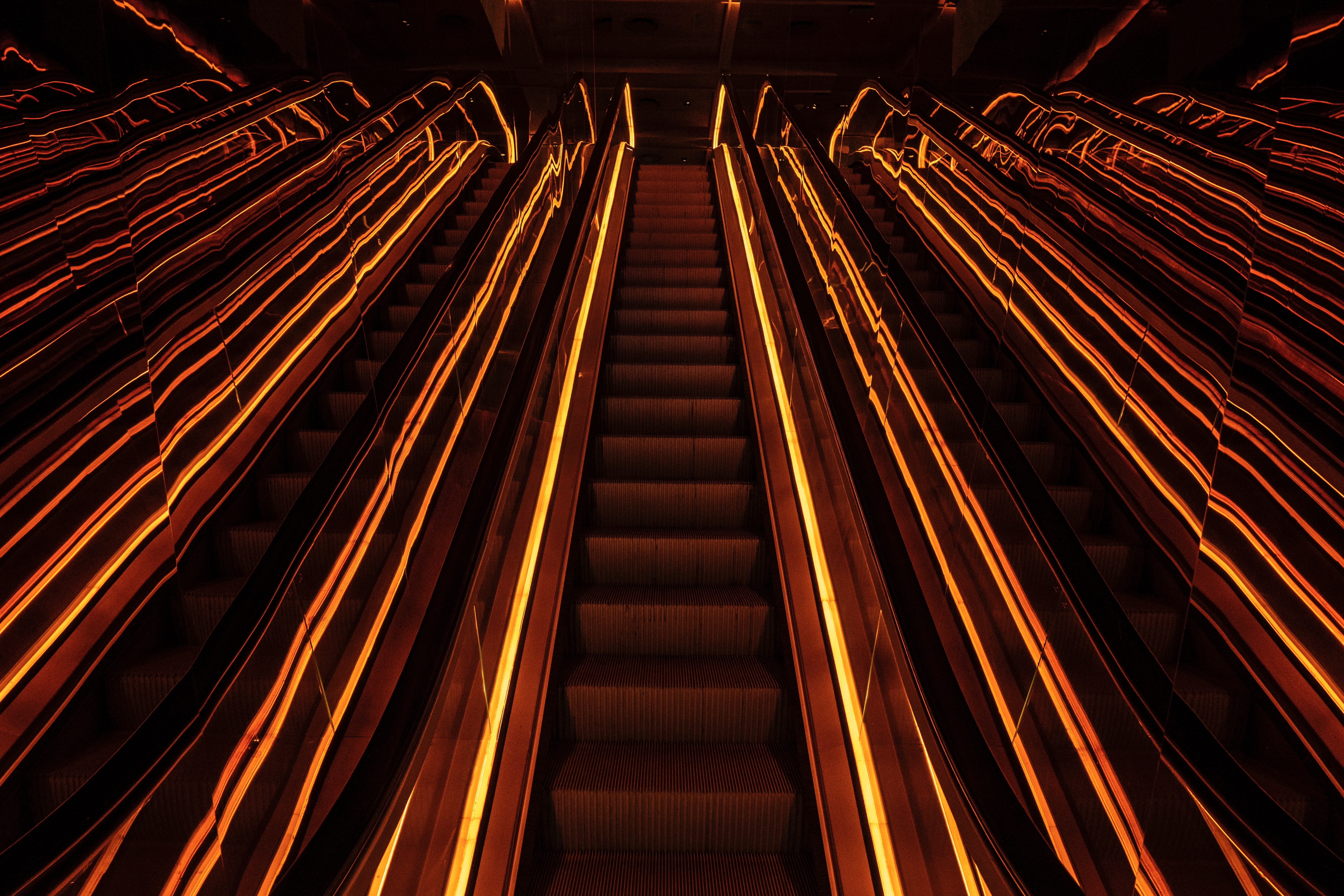 126998 Screensavers and Wallpapers Metro for phone. Download Dark, Neon, Glow, Stairs, Ladder, Metro, Subway pictures for free