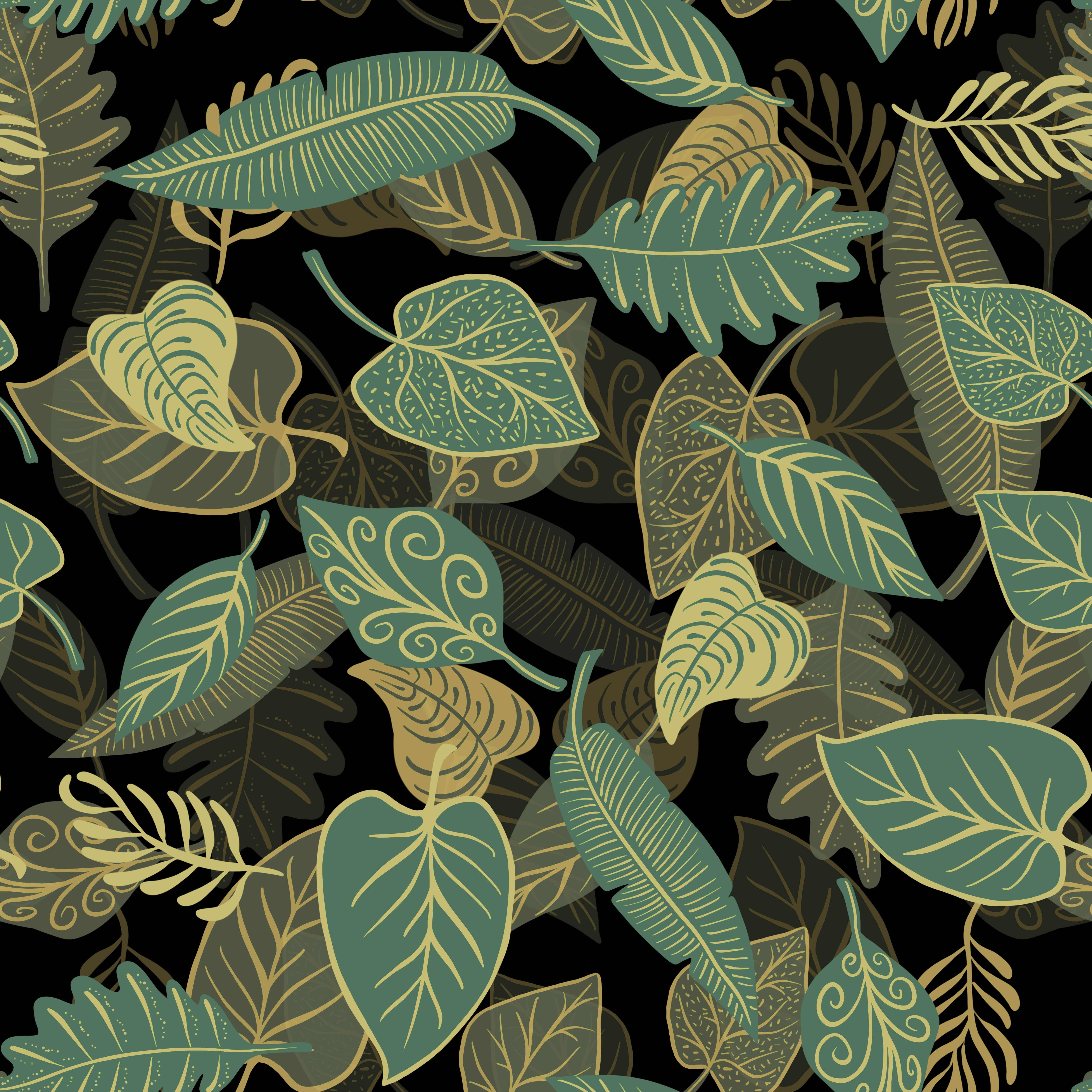 50465 download wallpaper Texture, Textures, Leaves, Patterns, Illustration screensavers and pictures for free