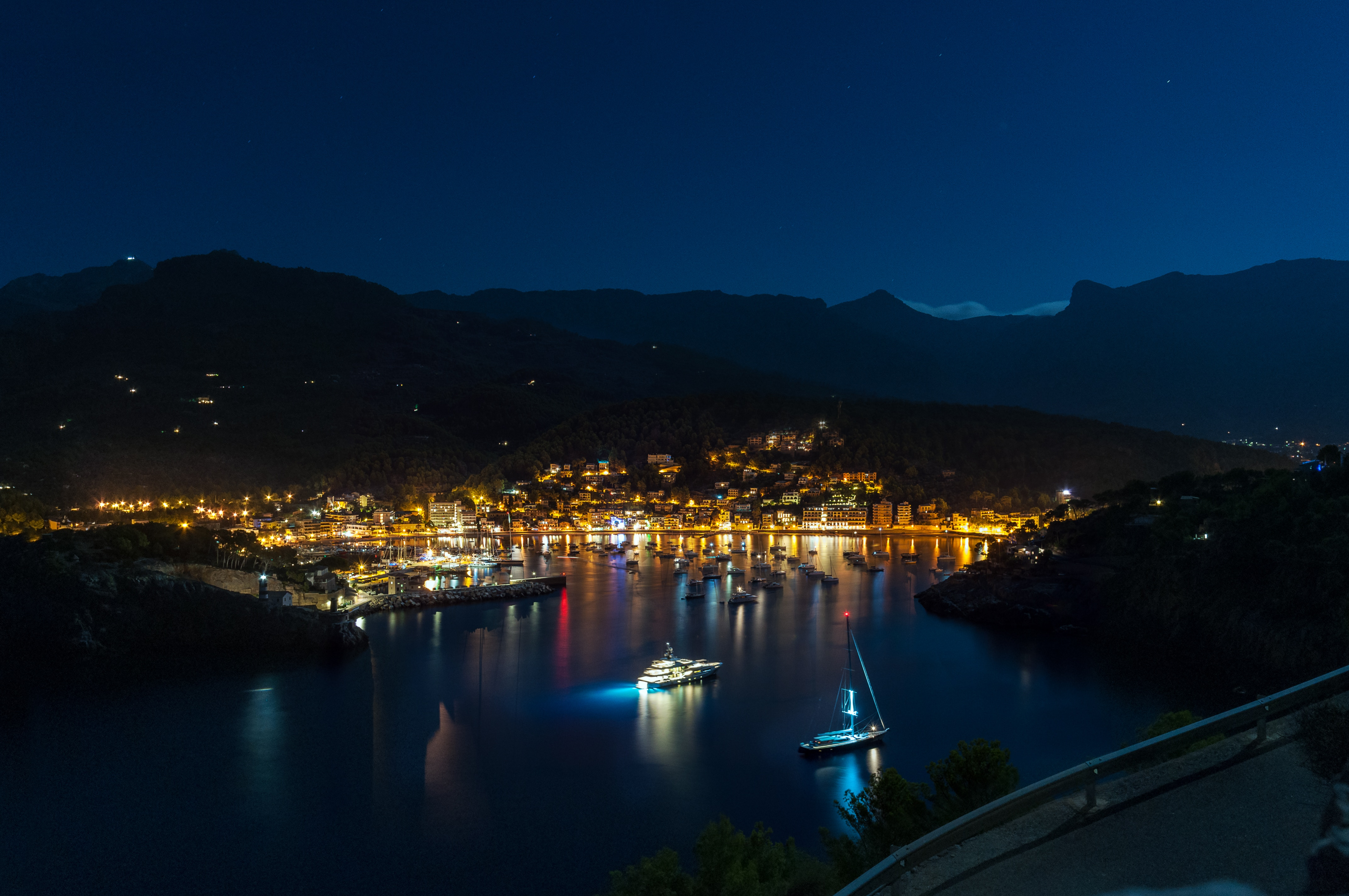 148114 free wallpaper 480x800 for phone, download images Cities, Night, Shore, Bank, Spain, Majorca 480x800 for mobile