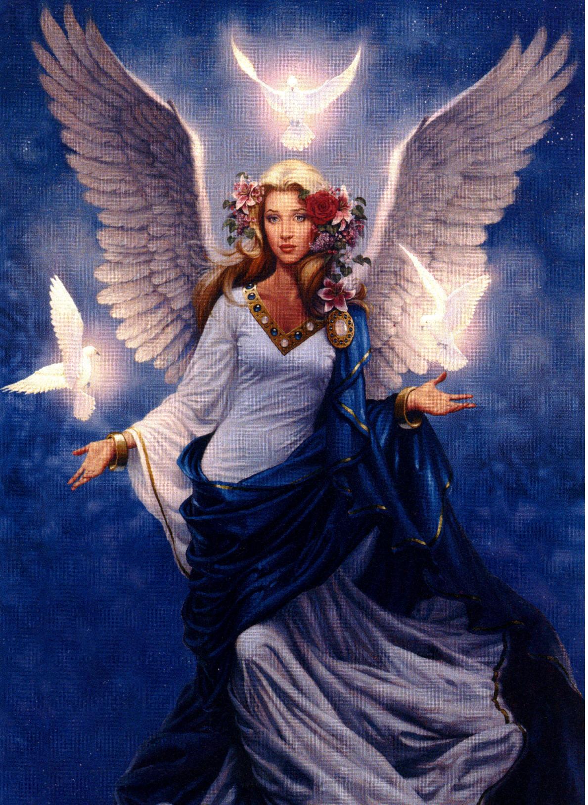 12898 скачать обои Рисунки, Ангелы - заставки и картинки бесплатно