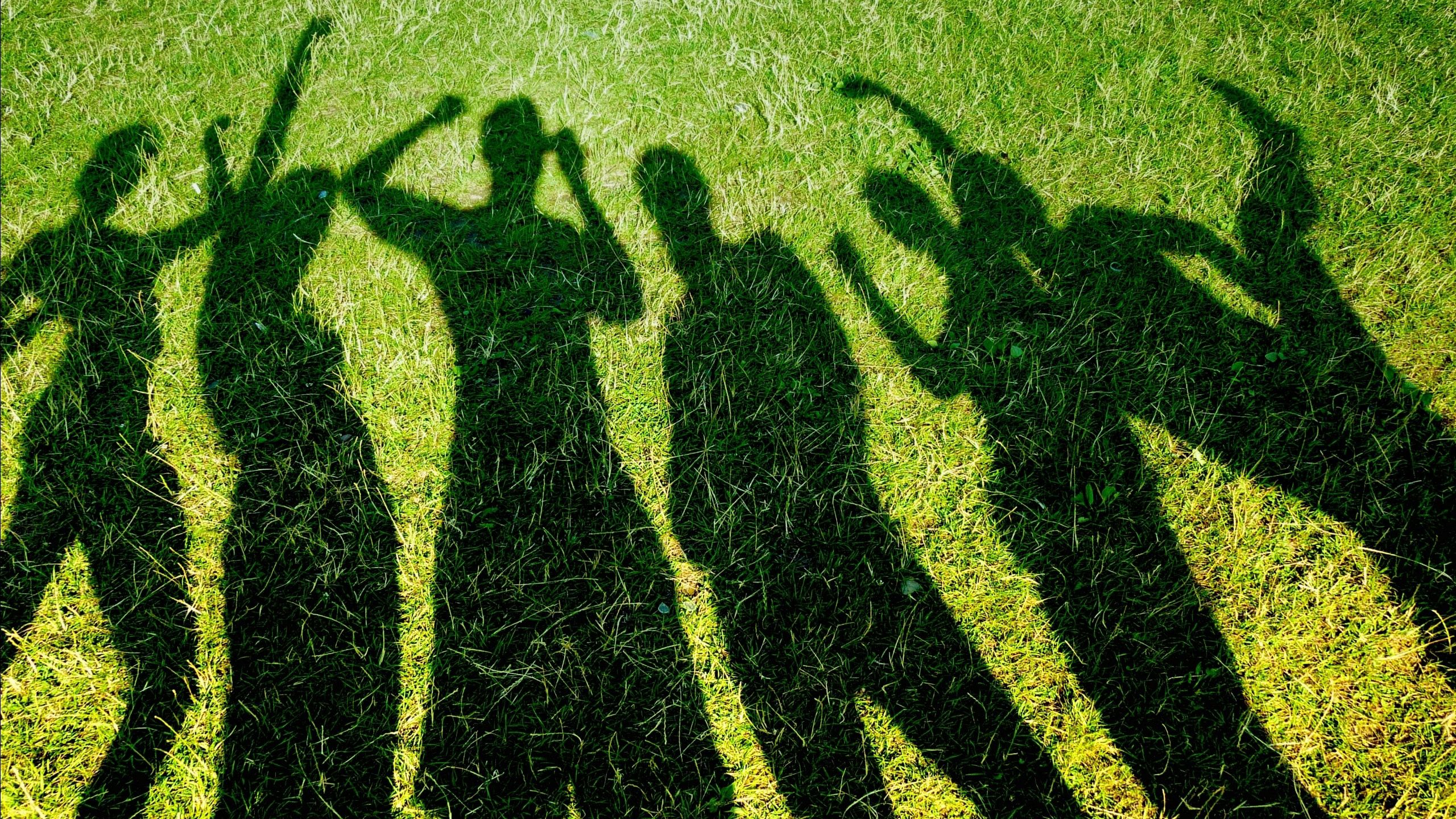 79743 download wallpaper Miscellanea, Miscellaneous, Shadow, Grass, People, Happiness screensavers and pictures for free