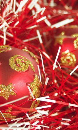57207 скачать обои Праздники, Рождество, Новый Год, Шары, Мишура, Украшения - заставки и картинки бесплатно
