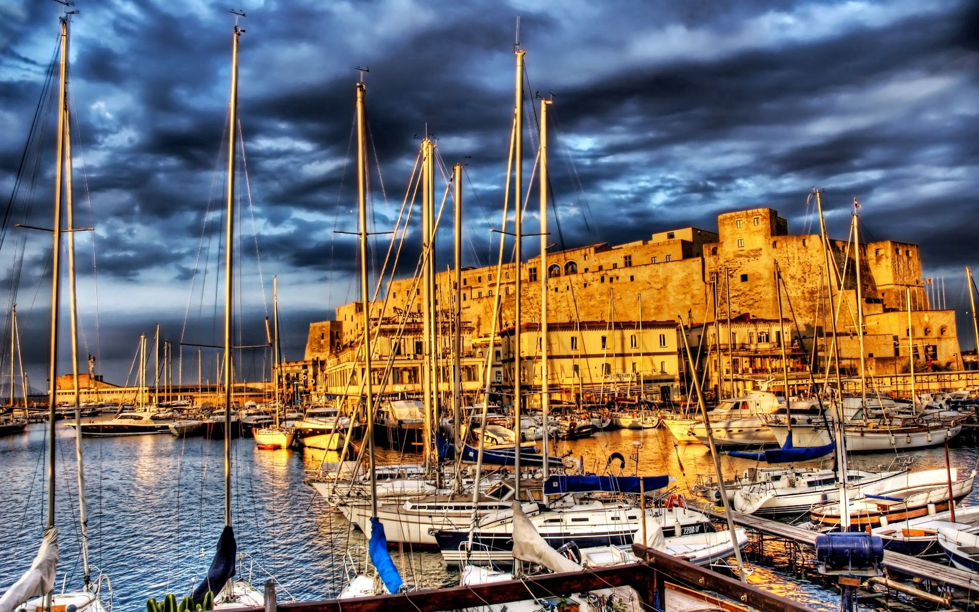 56485 download wallpaper Berth, Wharf, Rivers, Ships, Boats, Hdr, Cities screensavers and pictures for free