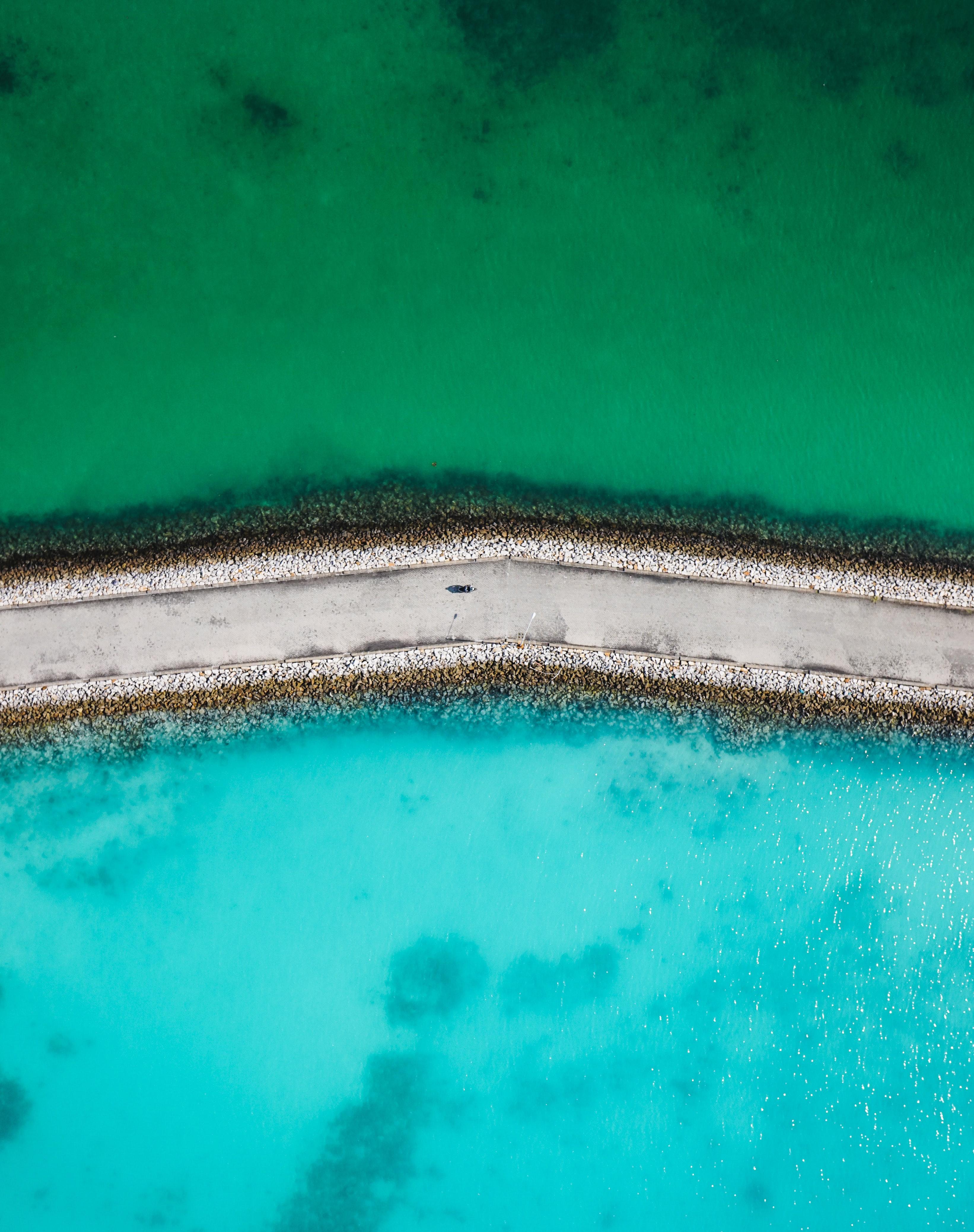 83651 fondo de pantalla 1920x1080 en tu teléfono gratis, descarga imágenes Naturaleza, Camino, Mar, Agua, Vista Desde Arriba 1920x1080 en tu móvil