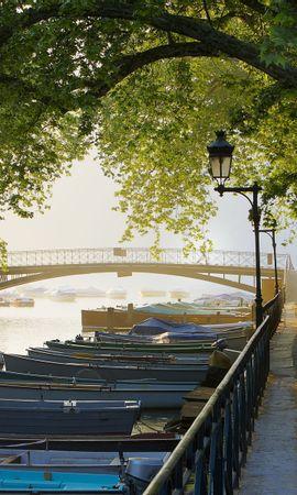 30382 скачать обои Пейзаж, Река, Мосты, Лодки - заставки и картинки бесплатно
