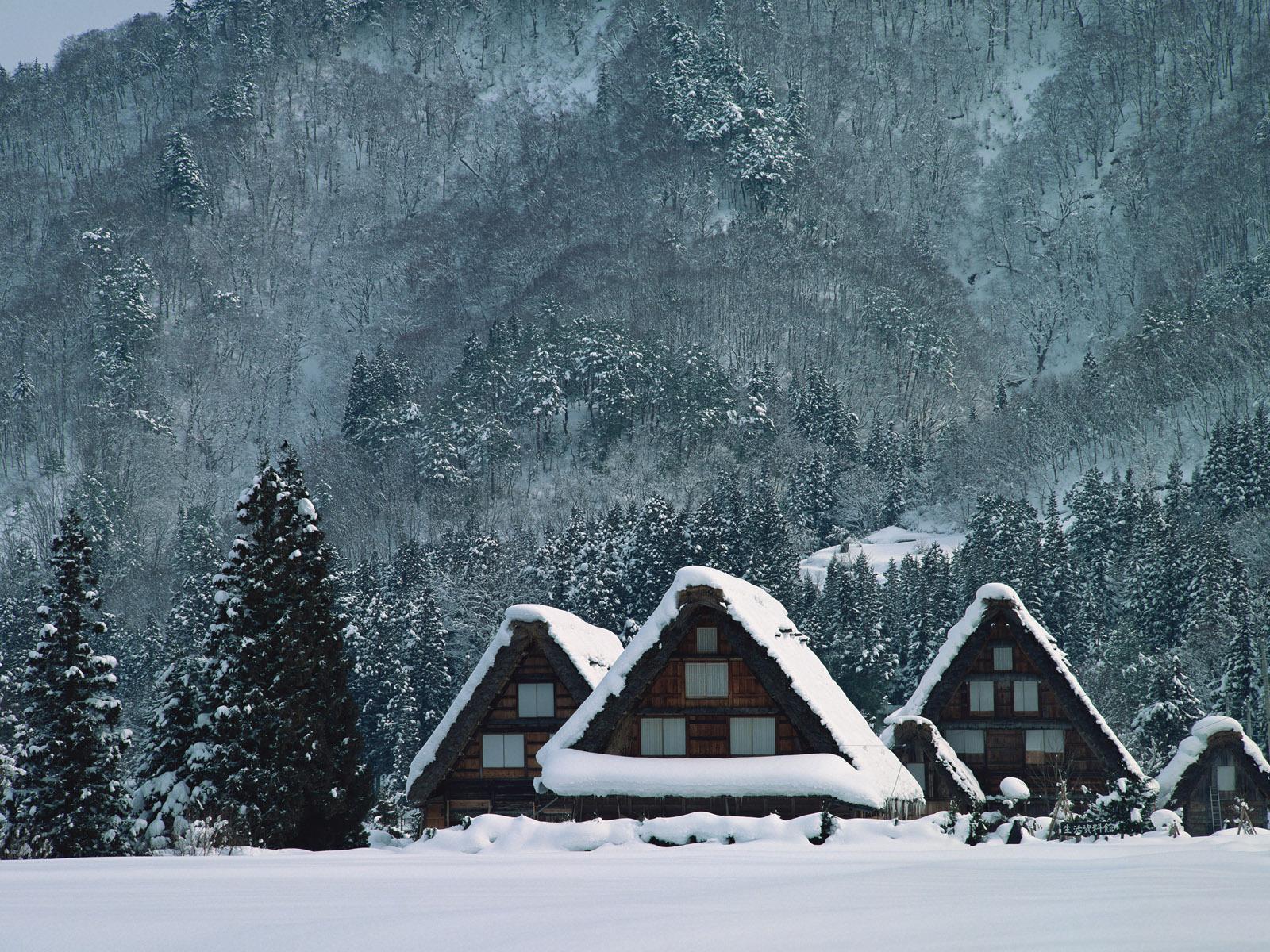 9620 скачать обои Пейзаж, Зима, Дома - заставки и картинки бесплатно