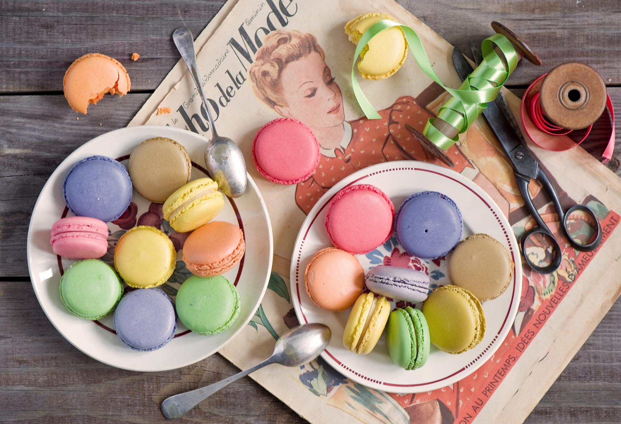 147440 Hintergrundbild herunterladen Lebensmittel, Wüste, Gebäck, Mehrfarbig, Motley, Macarons - Bildschirmschoner und Bilder kostenlos