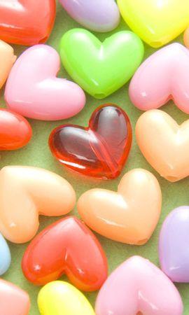 84298 télécharger le fond d'écran Amour, Perles, Chapelet, Multicolore, Hétéroclite, Cœurs - économiseurs d'écran et images gratuitement