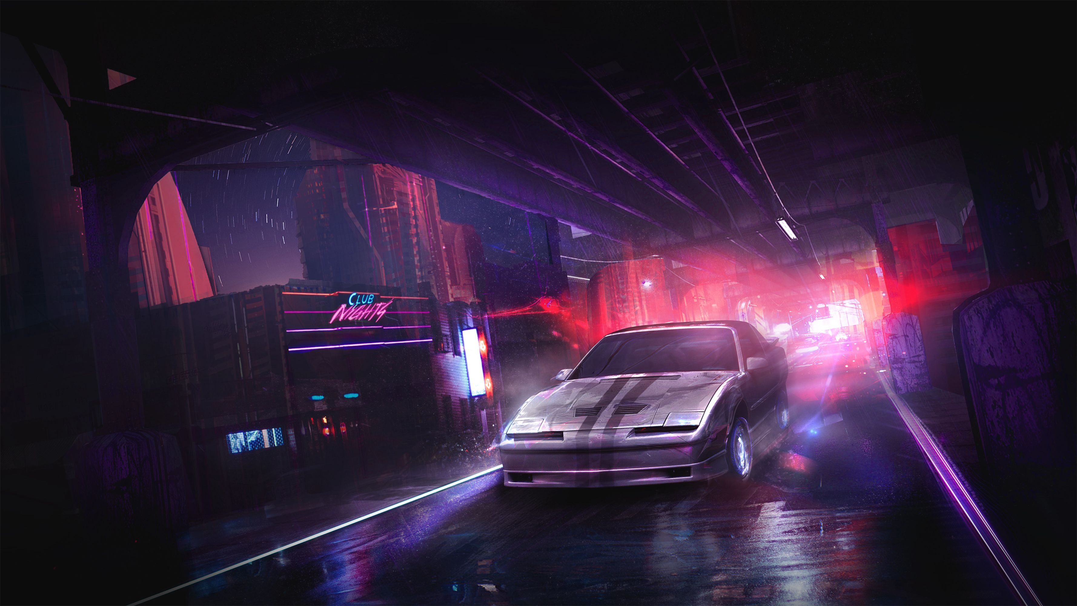 97749 Screensavers and Wallpapers Street for phone. Download Cities, Art, Night, Cars, Car, Street pictures for free