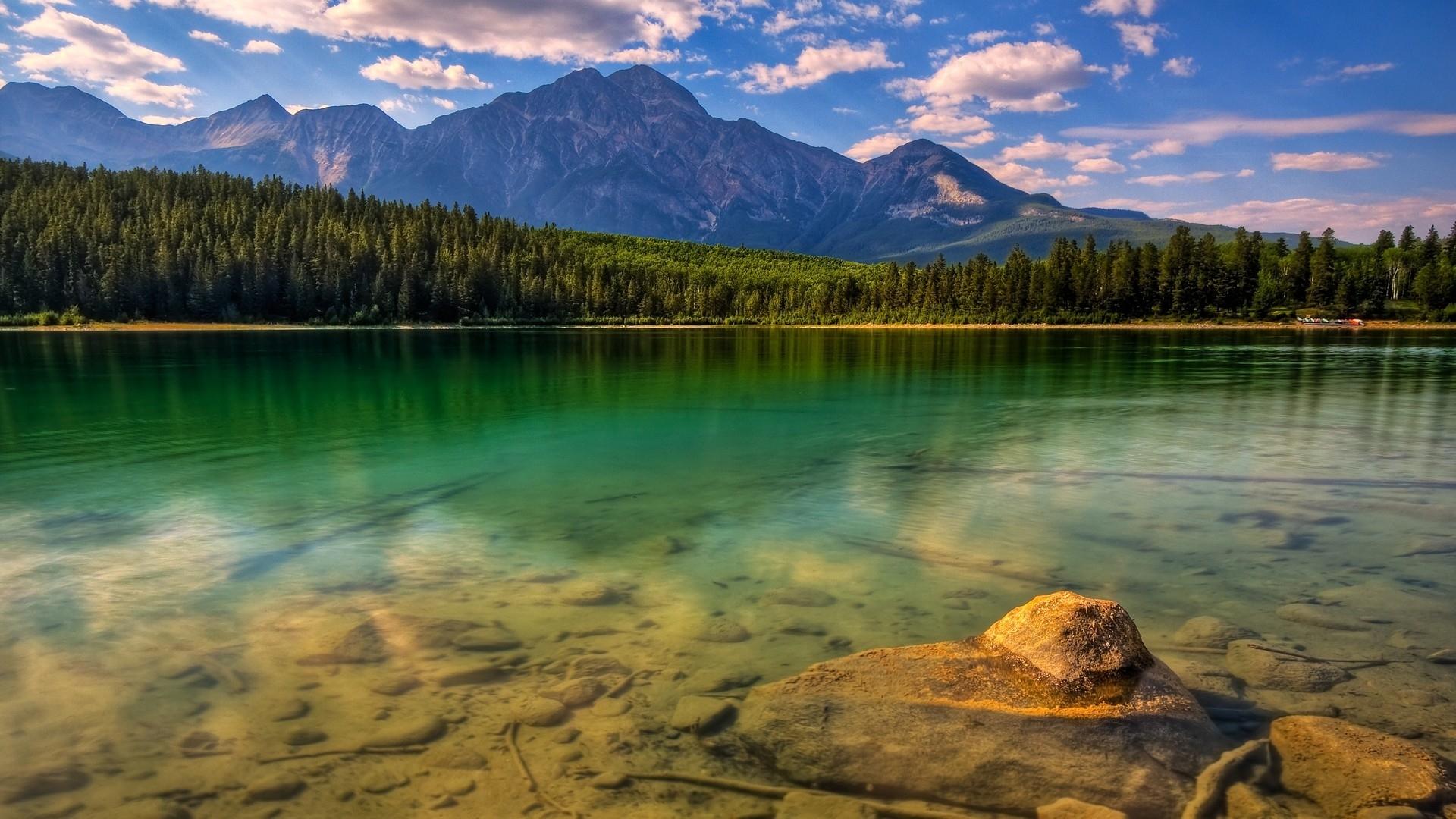 24090 скачать обои Пейзаж, Река, Деревья, Горы - заставки и картинки бесплатно