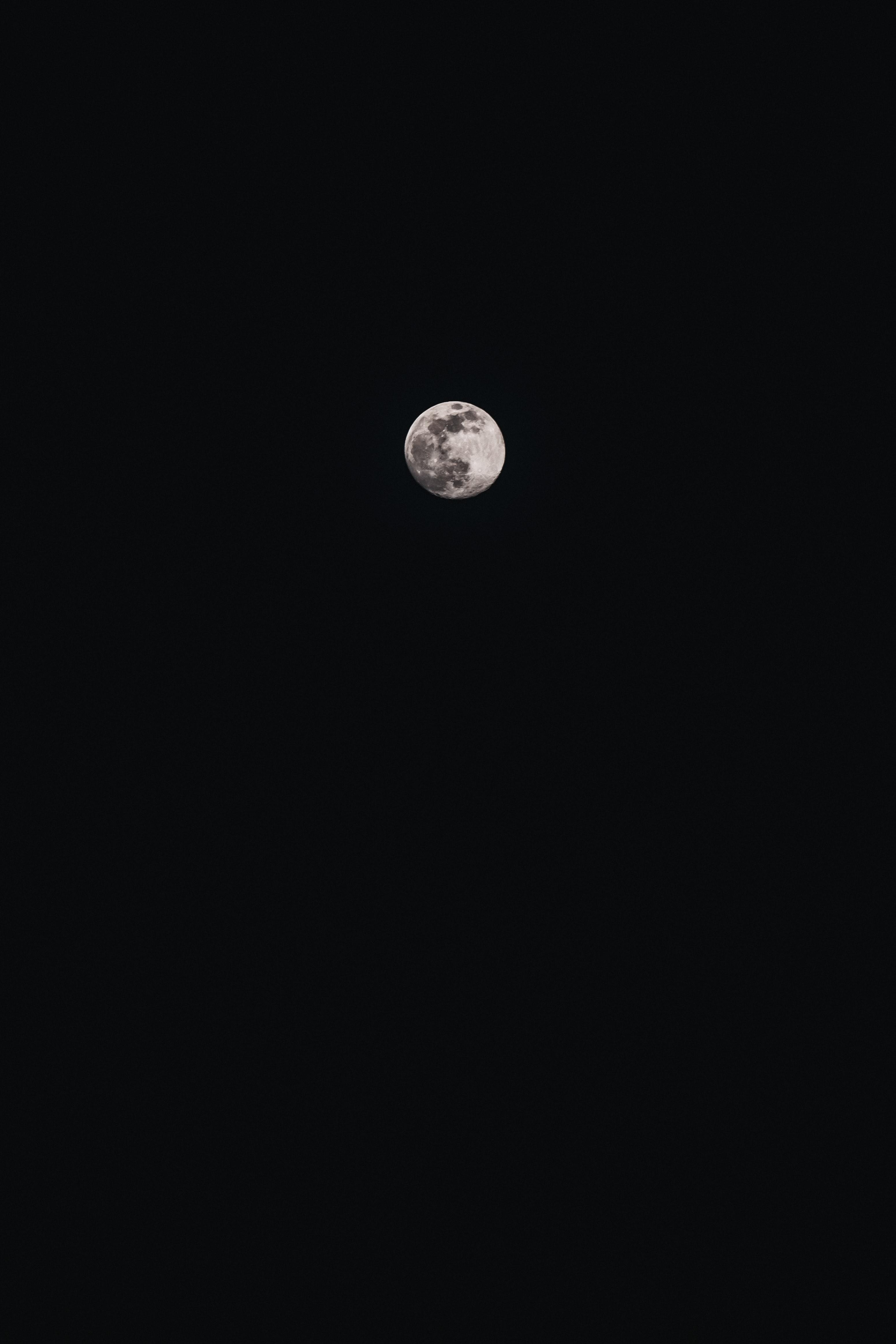 116378 免費下載壁紙 月球, 满月, 黑色的, 黑暗的, 黑暗 屏保和圖片