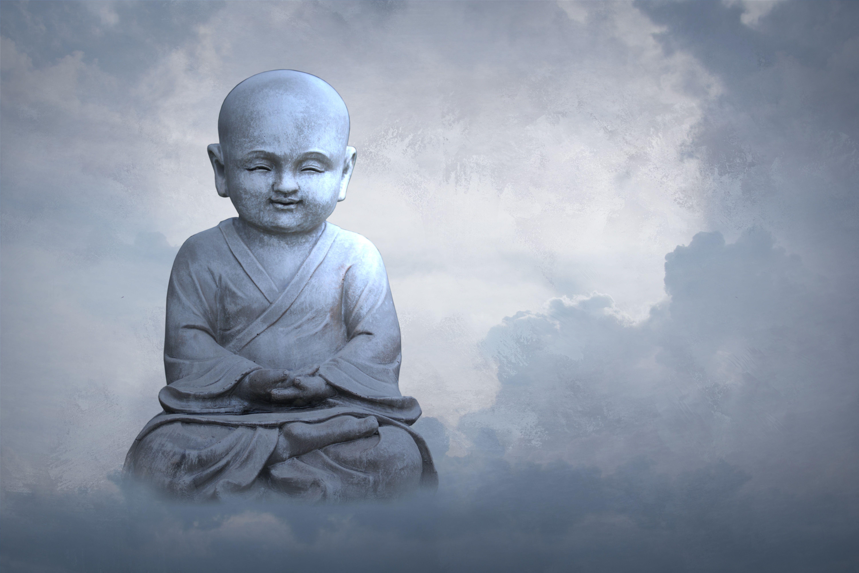 71703 скачать обои Разное, Будда, Буддизм, Скульптура, Статуя, Облака, Небо - заставки и картинки бесплатно