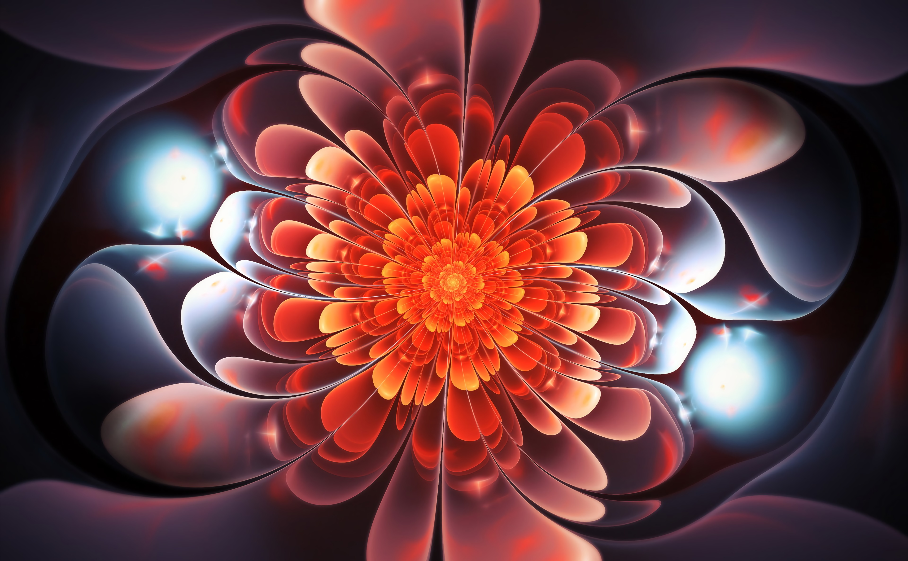 133239 download wallpaper Abstract, Fractal, Bright, Swirling, Involute, Glow, Spiral screensavers and pictures for free
