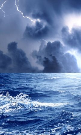 20722 descargar fondo de pantalla Paisaje, Mar, Nubes, Relámpago: protectores de pantalla e imágenes gratis