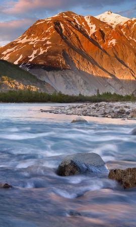 33758 скачать обои Пейзаж, Река, Горы - заставки и картинки бесплатно