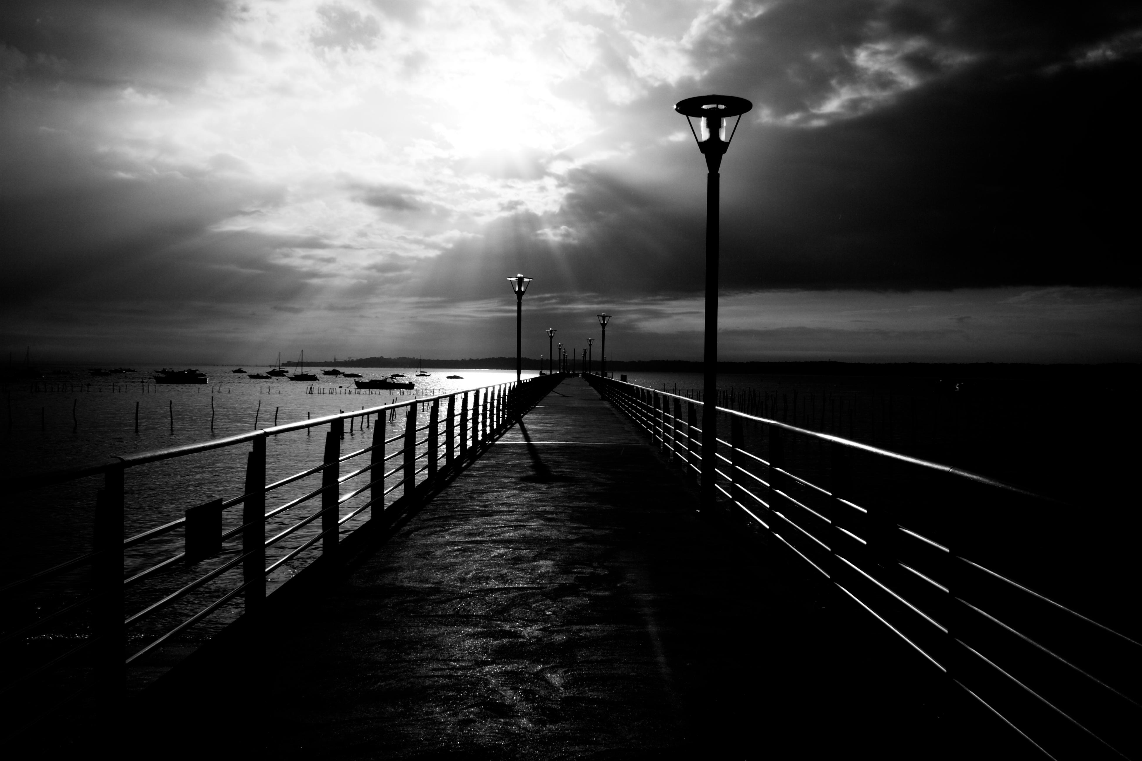 95878 Lade kostenlos Schwarz Hintergrundbilder für dein Handy herunter, Sea, Seebrücke, Pier, Frankreich, Bw, Chb, Saint-Jean-Cap-Ferra, Saint-Jean-Cap-Ferrat Schwarz Bilder und Bildschirmschoner für dein Handy