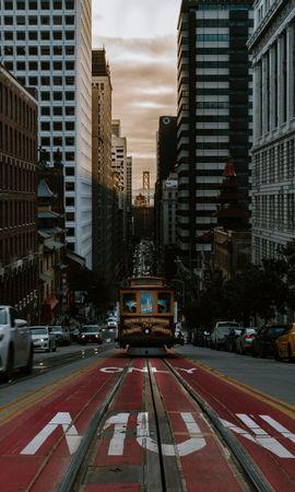 113393 descargar fondo de pantalla Tranvía, Transporte, Calle, Ciudad, Tráfico, Movimiento, Ciudades: protectores de pantalla e imágenes gratis