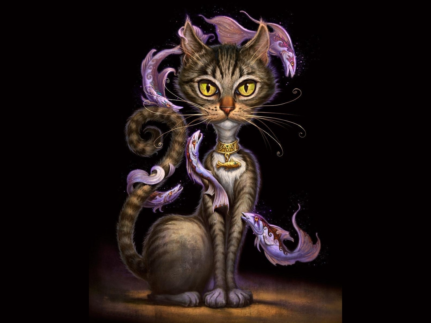 30685 обои 320x480 на телефон бесплатно, скачать картинки Рисунки, Кошки (Коты, Котики) 320x480 на мобильный