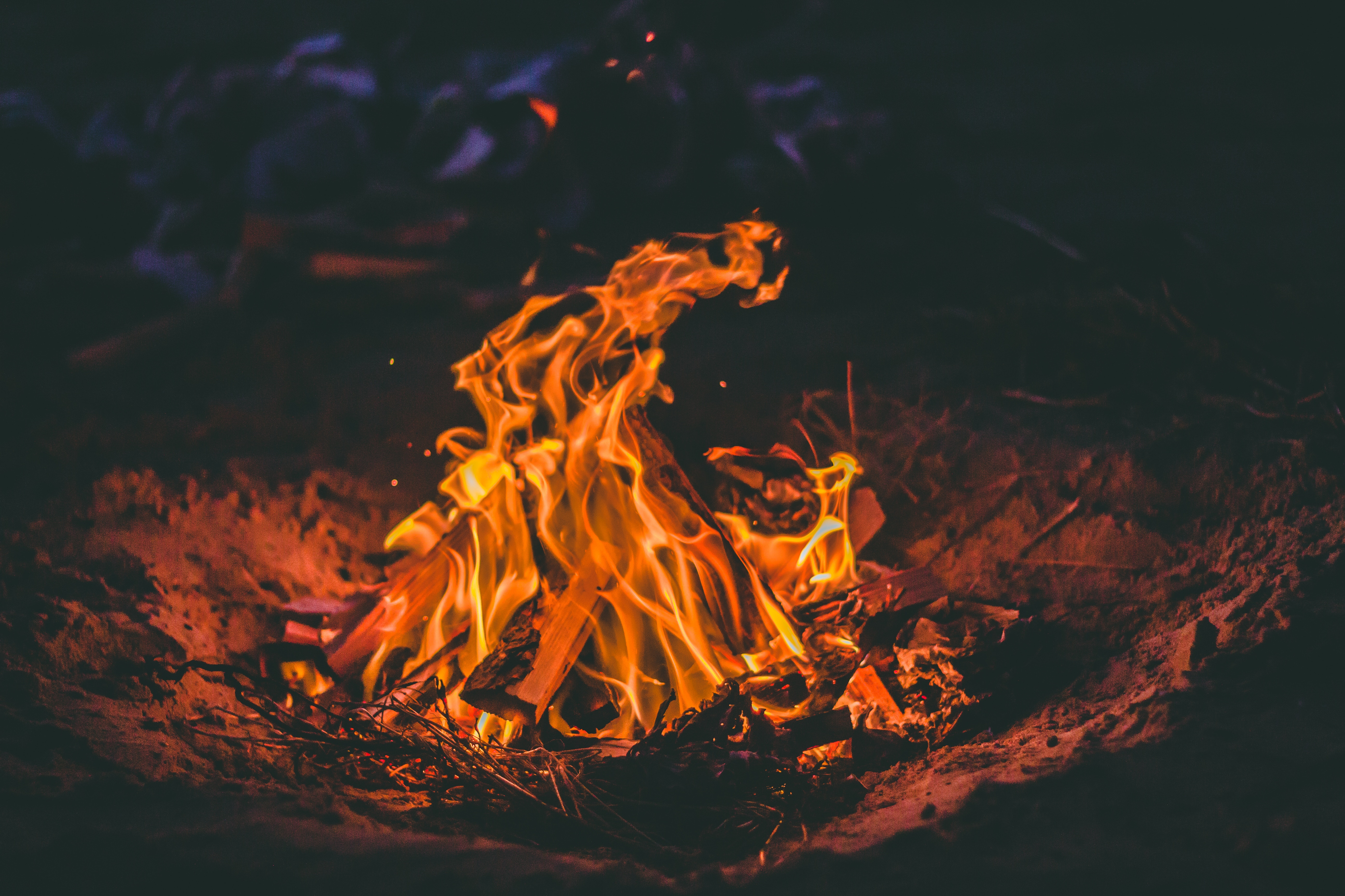 139478 Screensavers and Wallpapers Bonfire for phone. Download Fire, Bonfire, Flame, Miscellanea, Miscellaneous, Firewood pictures for free