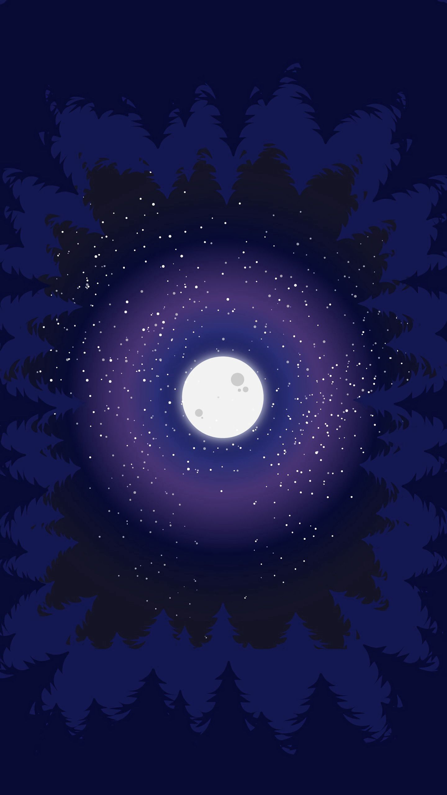 100497 Hintergrundbild 240x400 kostenlos auf deinem Handy, lade Bilder Bäume, Kunst, Mond, Vektor, Wald, Mondlicht 240x400 auf dein Handy herunter