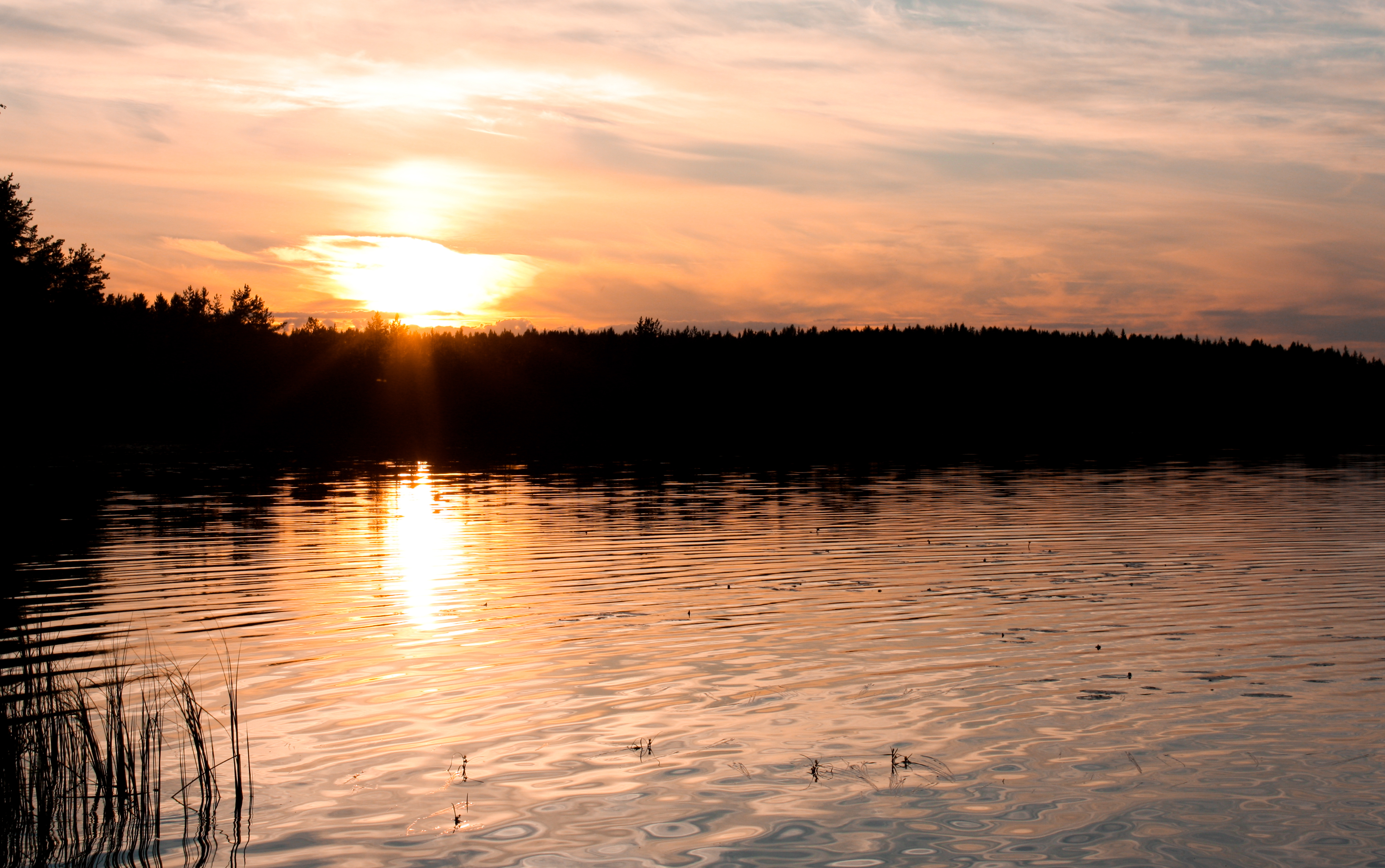 11849 скачать обои Пейзаж, Вода, Закат, Солнце, Озера - заставки и картинки бесплатно