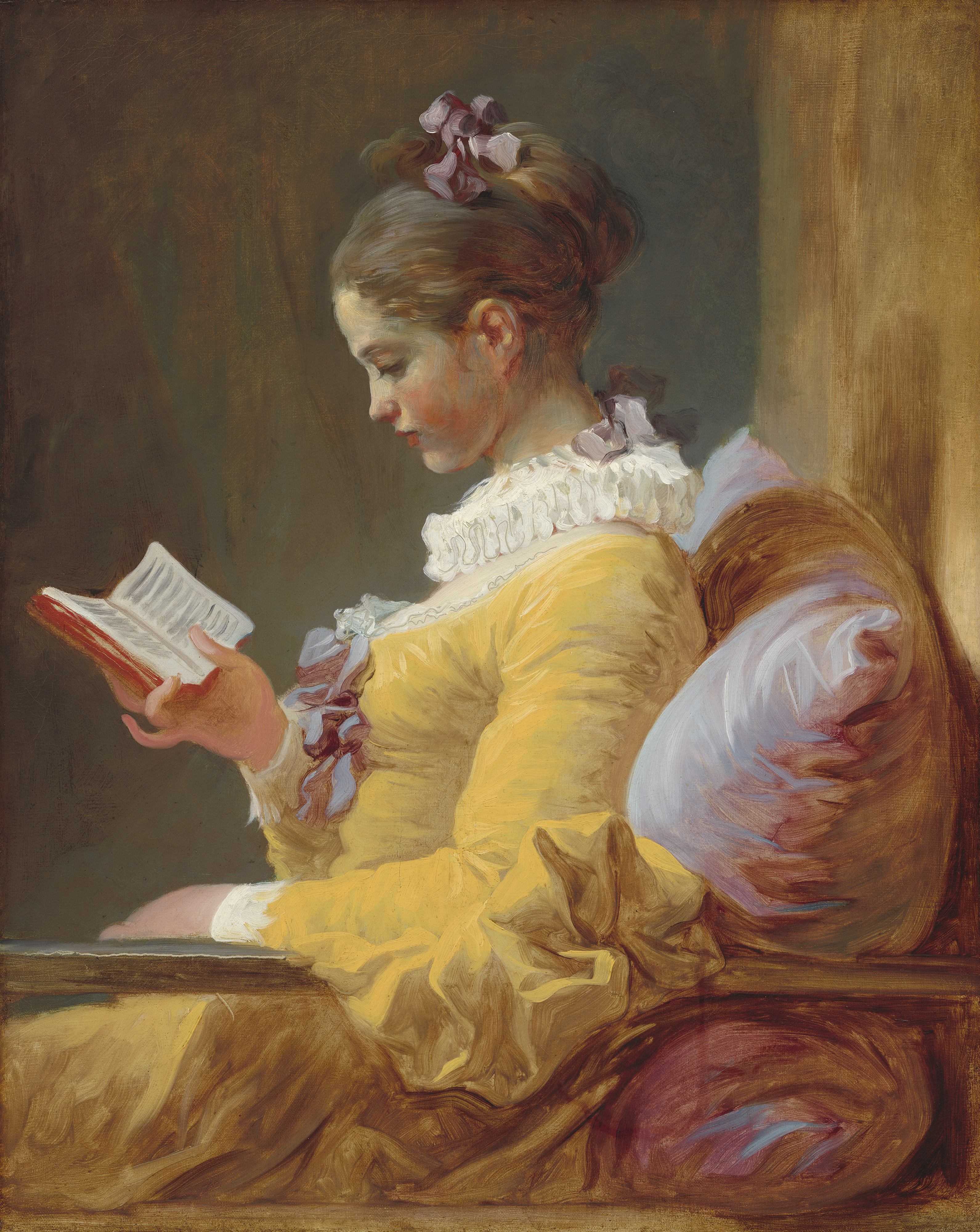 53329 Screensavers and Wallpapers Book for phone. Download Art, Girl, Book, Canvas, Jean Honore Fragonard, Reading Young Girl, Young Girl Reading, Butter, Oil pictures for free