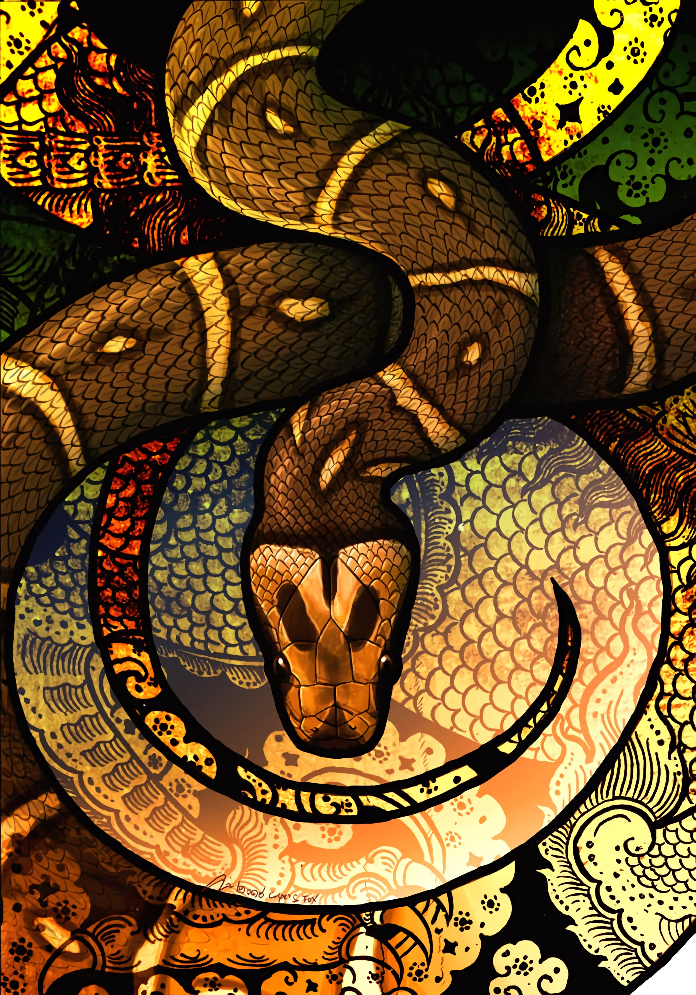 149938 Screensavers and Wallpapers Snake for phone. Download Art, Patterns, Snake, Scales, Scale pictures for free