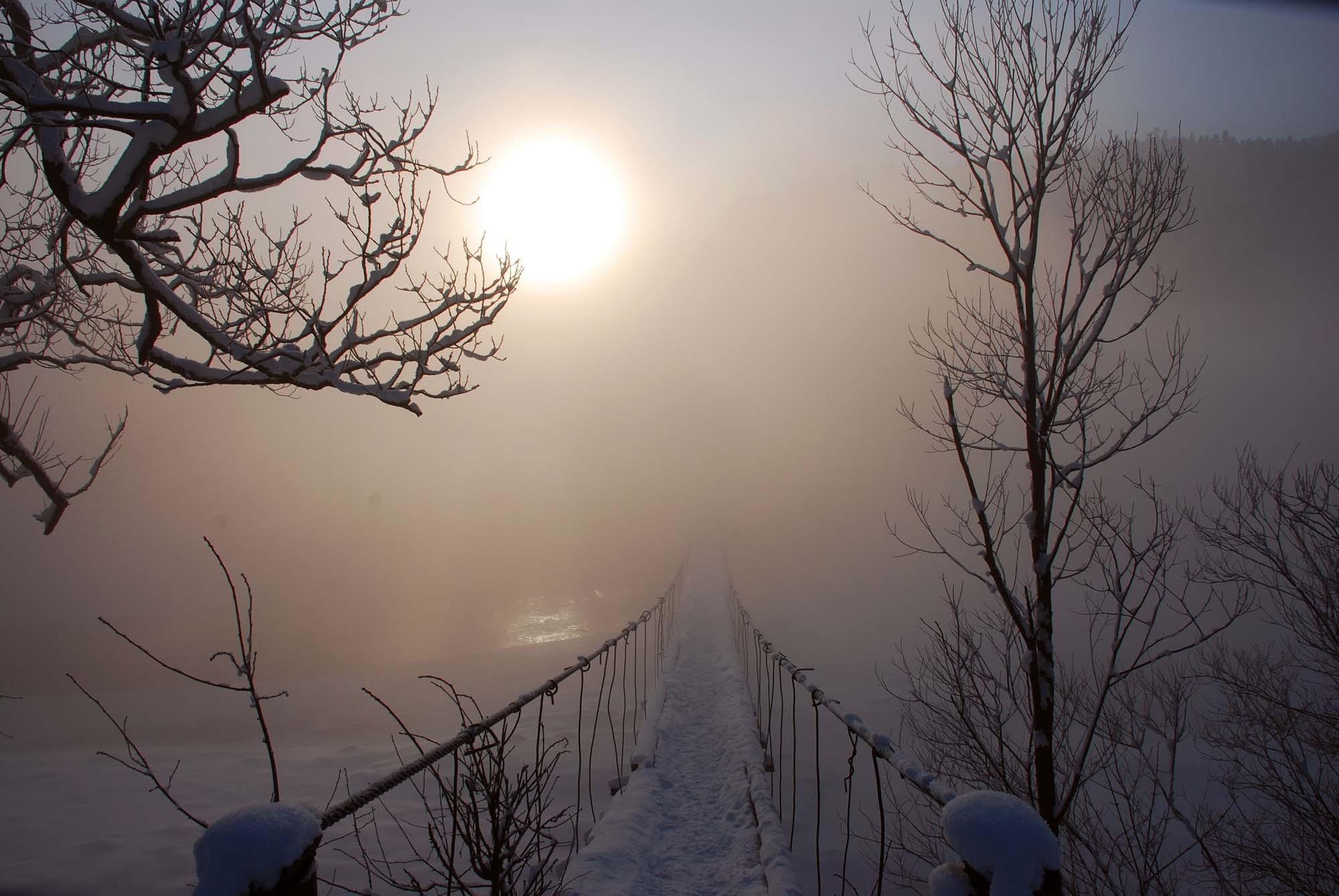 9581 скачать обои Пейзаж, Зима, Мосты - заставки и картинки бесплатно