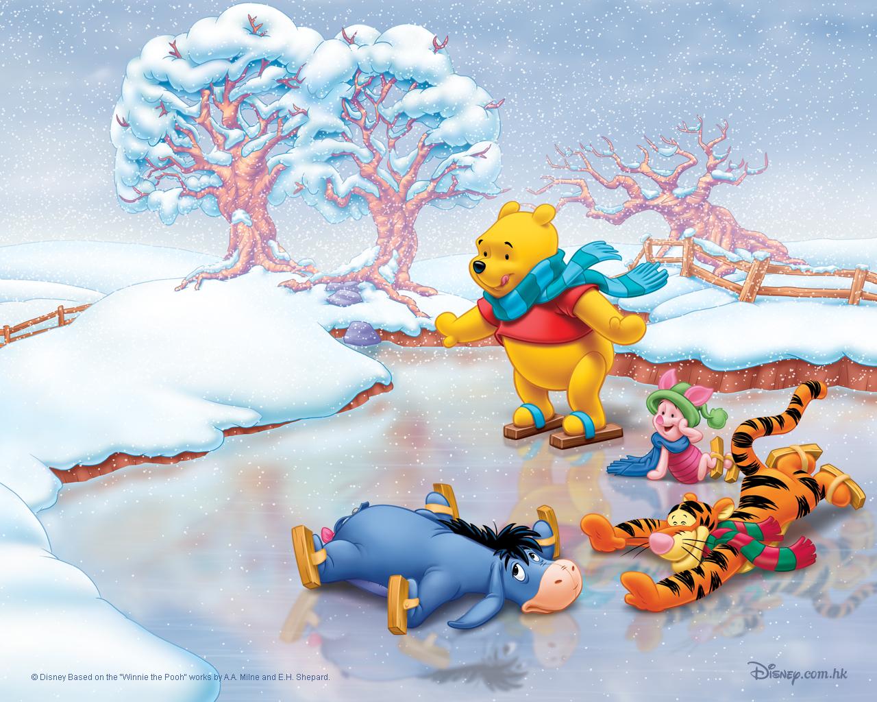 10868 Salvapantallas y fondos de pantalla Imágenes en tu teléfono. Descarga imágenes de Dibujos Animados, Invierno, Hielo, Nieve, Imágenes, Winnie The Pooh gratis