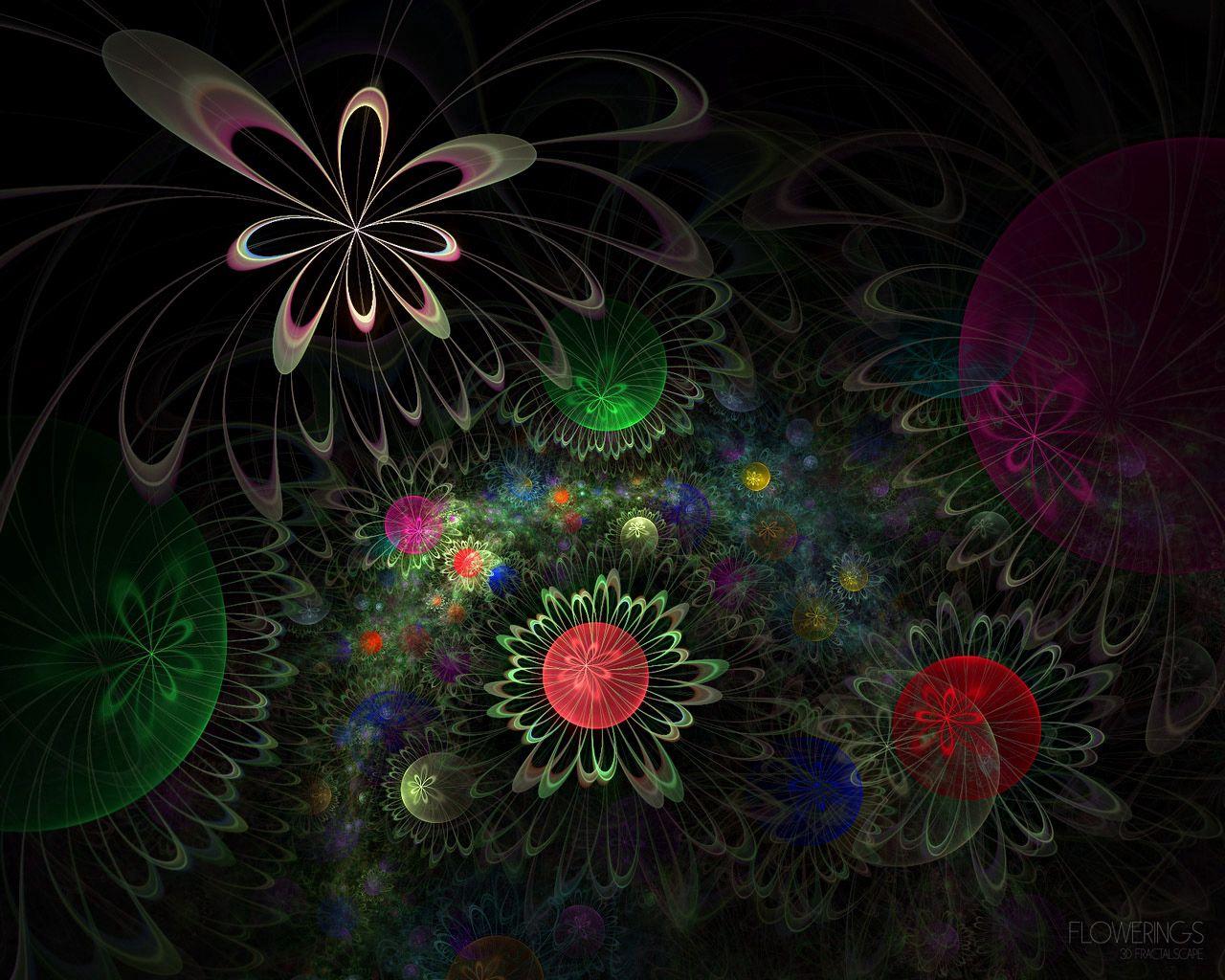 109157 скачать обои Абстракция, Формы, Круги, Фрактал, Цветы - заставки и картинки бесплатно